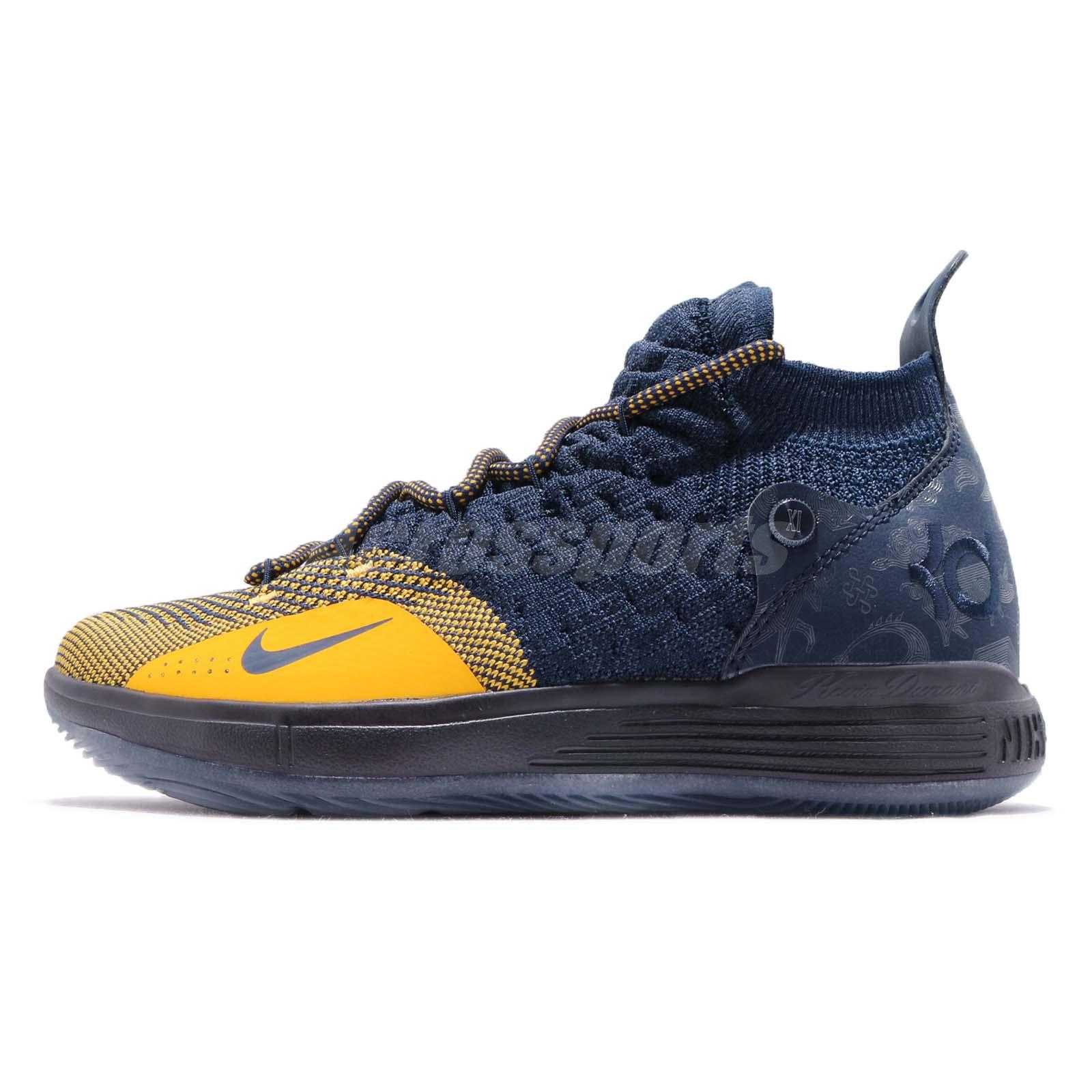 46b8a3b58e59 Nike KD 11 GS XI Chinese Zodiac Michigan Kevin Durant Navy Kid Women  AH3465-400