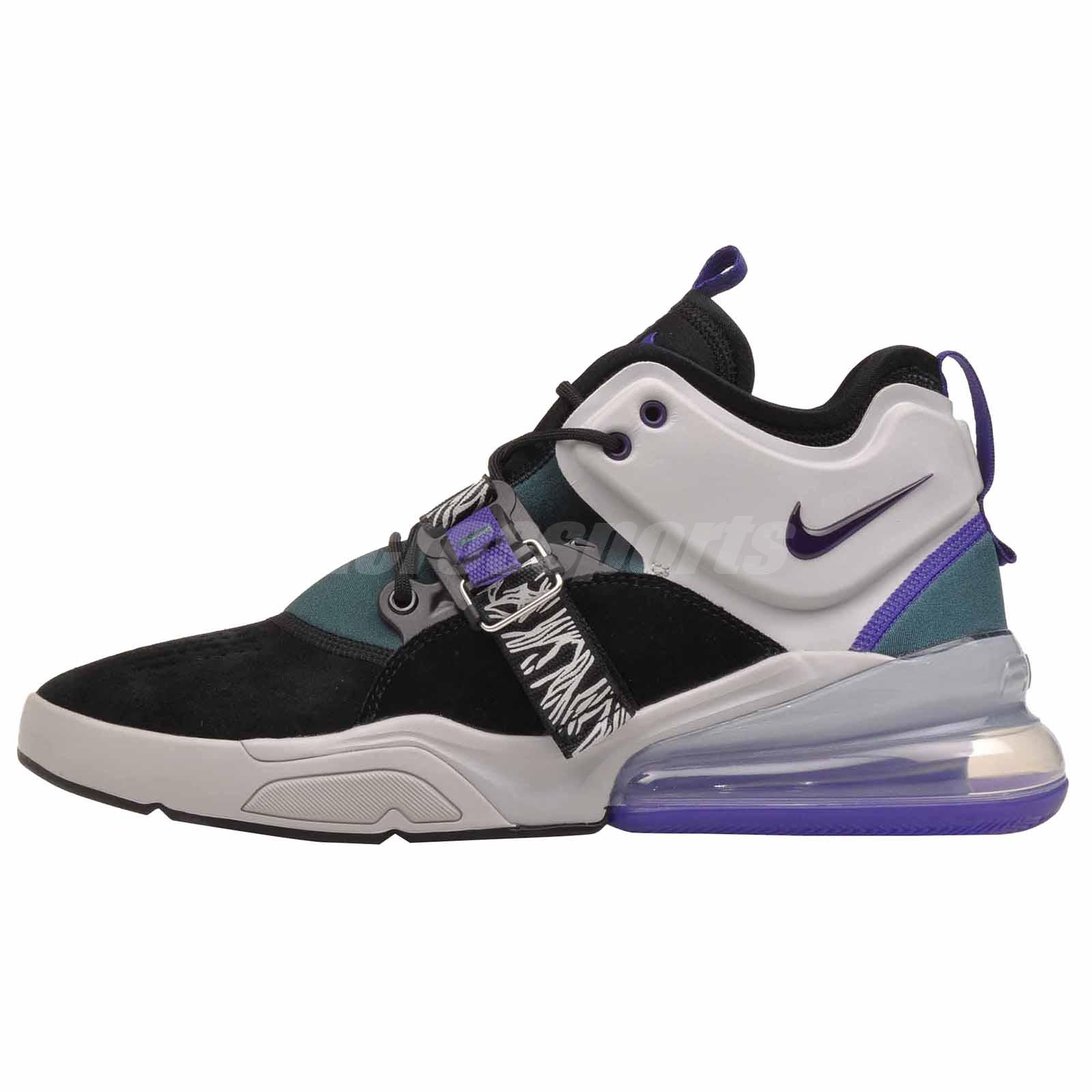 c04448831dcc69 Details about Nike Air Force 270 Basketball Mens Shoes Black Purple NWOB  AH6772-005