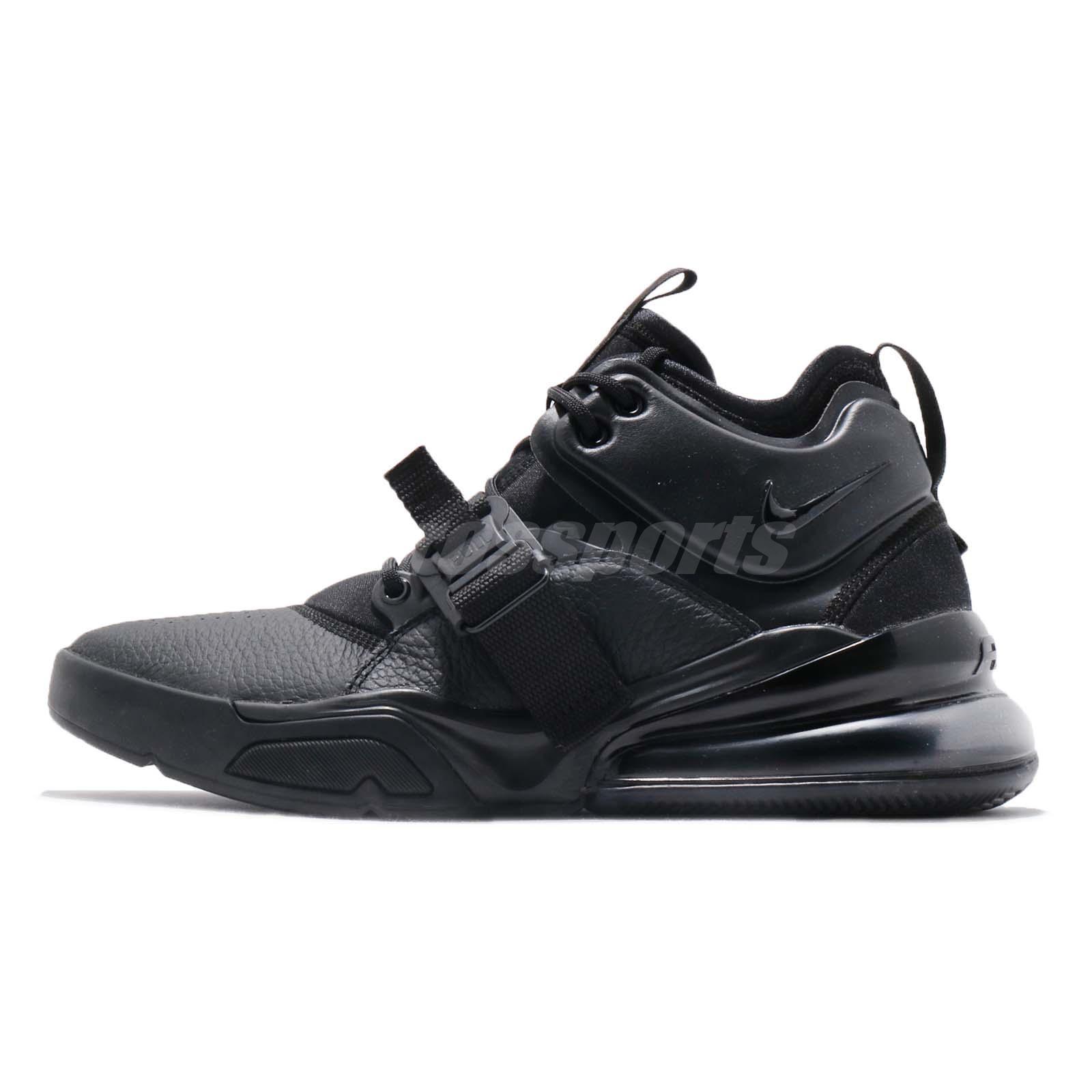 fd7e6a08b22dc8 Nike Air Force 270 Triple Black Men Lifestyle Casual Shoes Sneakers  AH6772-010