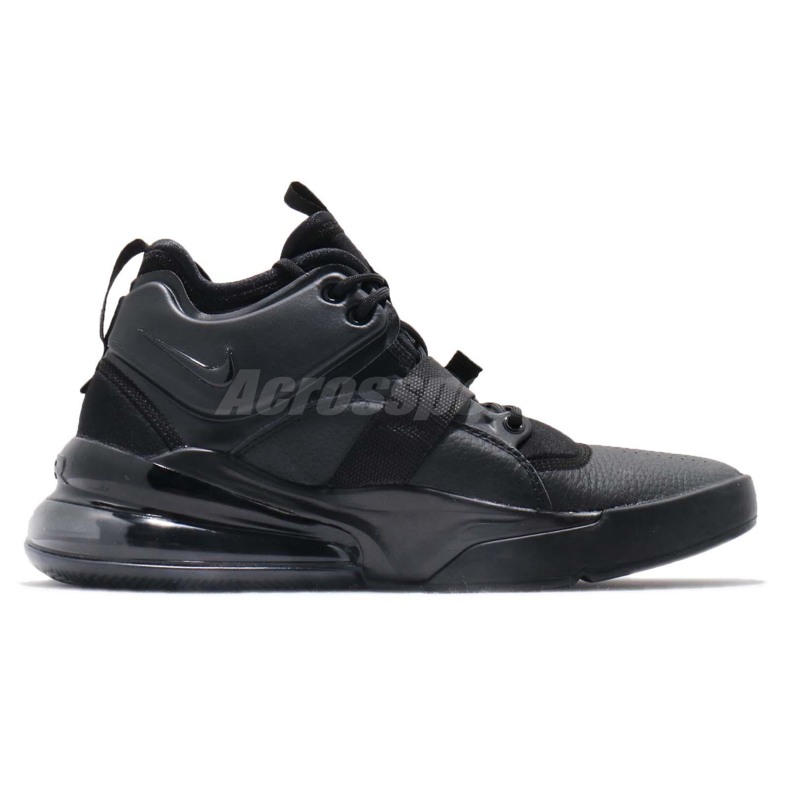 e5fd96a5ecfacd Nike Air Force 270 Triple Black Men Lifestyle Casual Shoes Sneakers ...