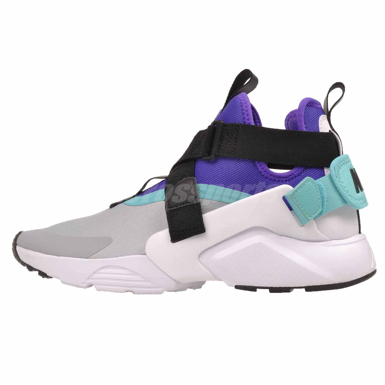 new style f251b faba4 Details about Nike W Air Huarache City Running Womens Shoes Wolf Grey  AH6787-004