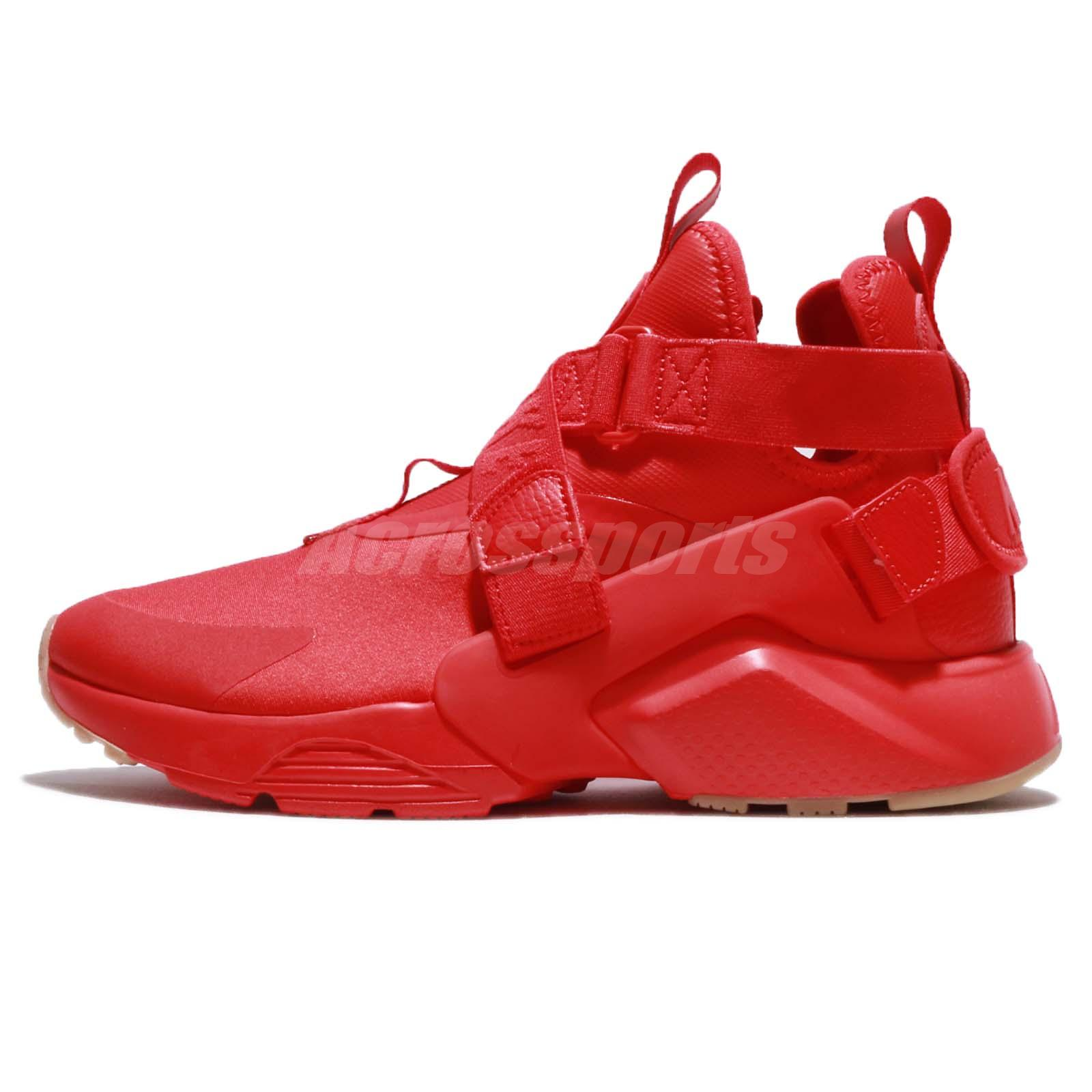 9d8eda1b7b Wmns Nike Air Huarache City Speed Red Black Women Running Shoes AH6787-600