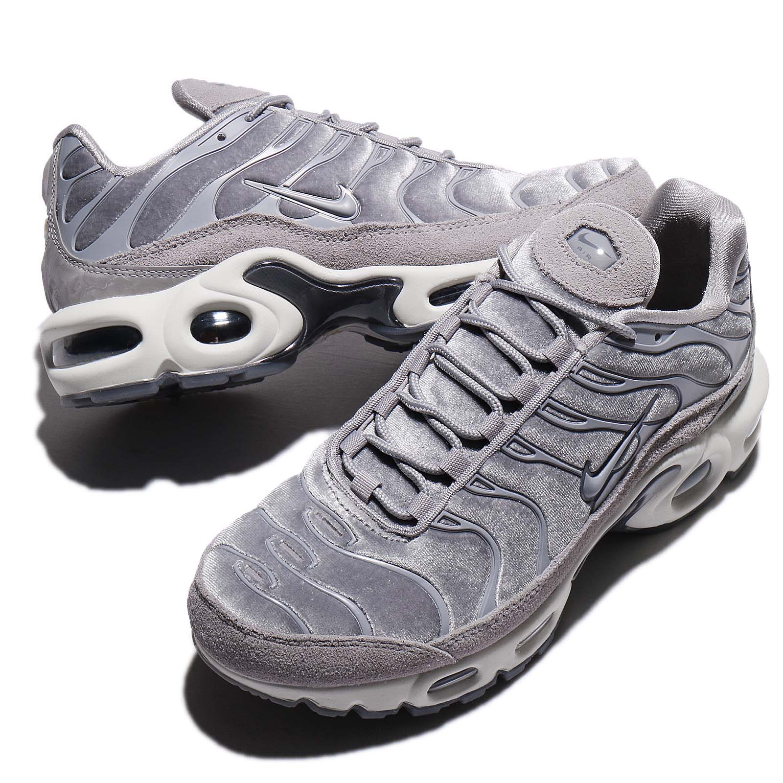 Nike Wmns Air Max Plus LX Lux Gunsmoke Grey Women Running Shoes ... 6fbfc86fd