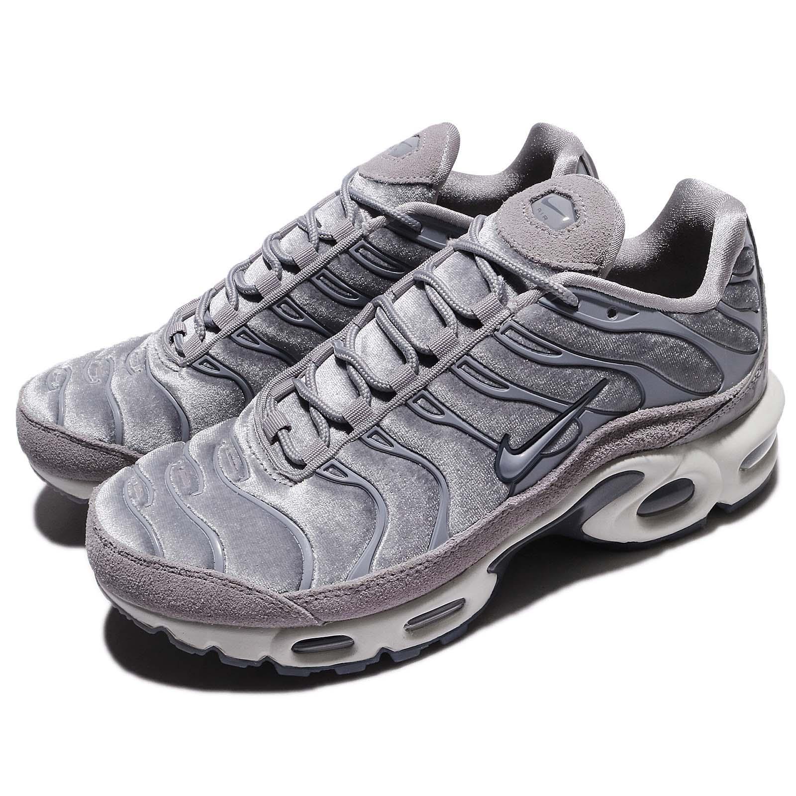 4d2ac6e661 Details about Nike Wmns Air Max Plus LX Lux Gunsmoke Grey Women Running  Shoes AH6788-001