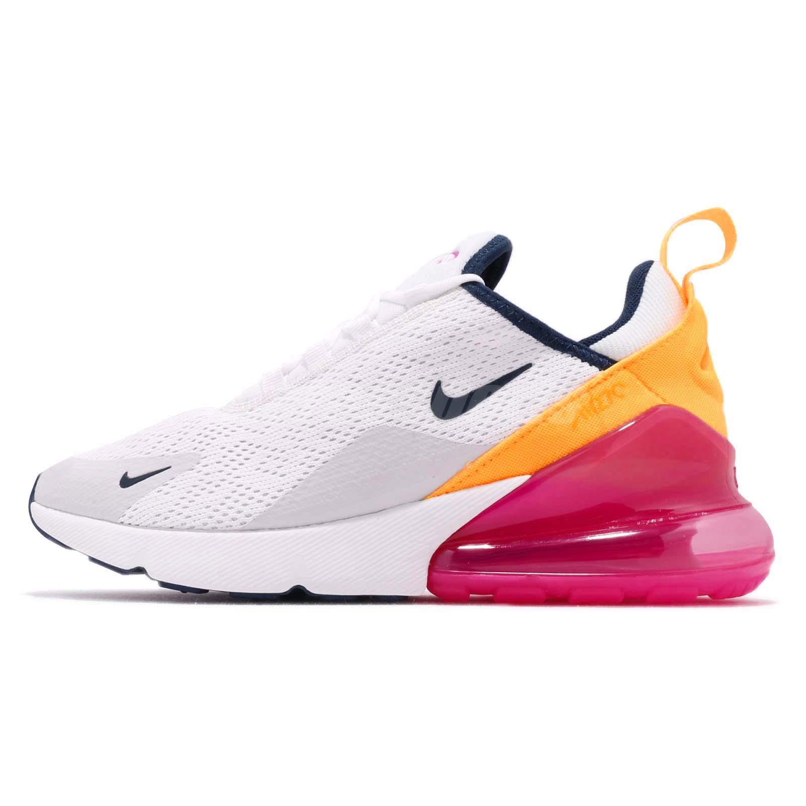 28e29c40ea Nike Wmns Air Max 270 White Navy Pink Women Running Shoes Sneakers  AH6789-106