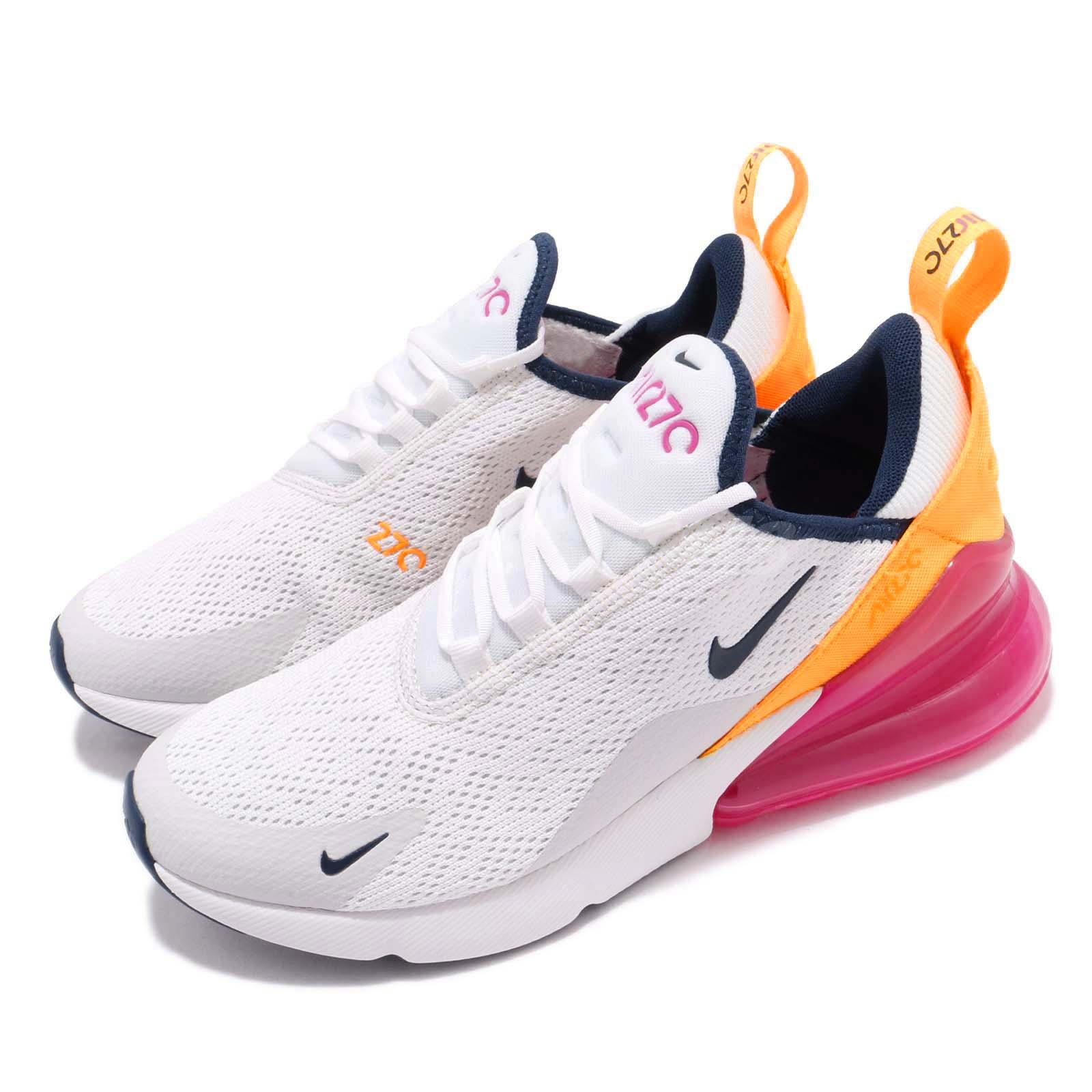 new product c1f1f 1ab51 Details about Nike Wmns Air Max 270 White Navy Pink Women Running Shoes  Sneakers AH6789-106
