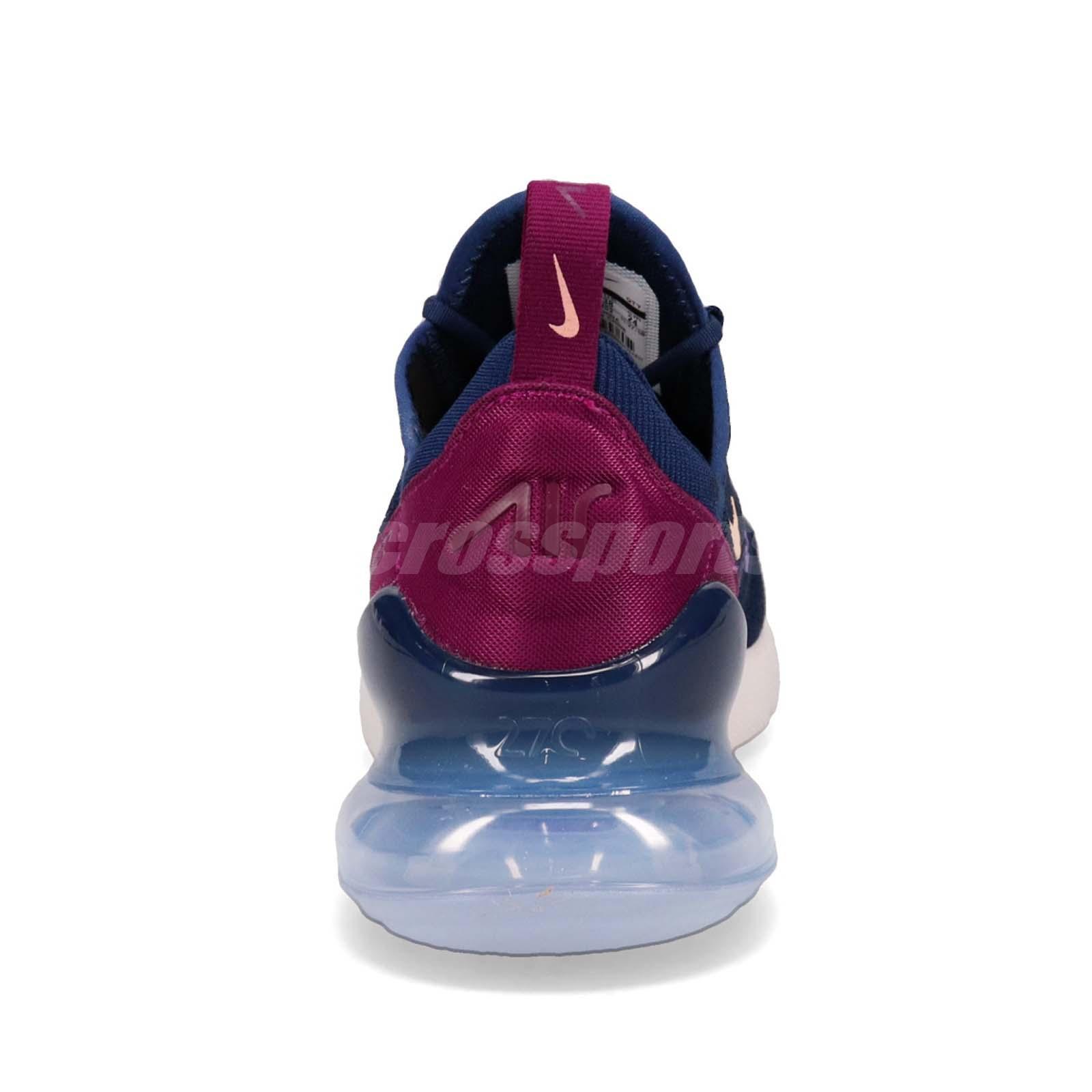 70b5898c5 Nike Wmns Air Max 270 Blue Void Crimson Tint Women Running Shoes ...
