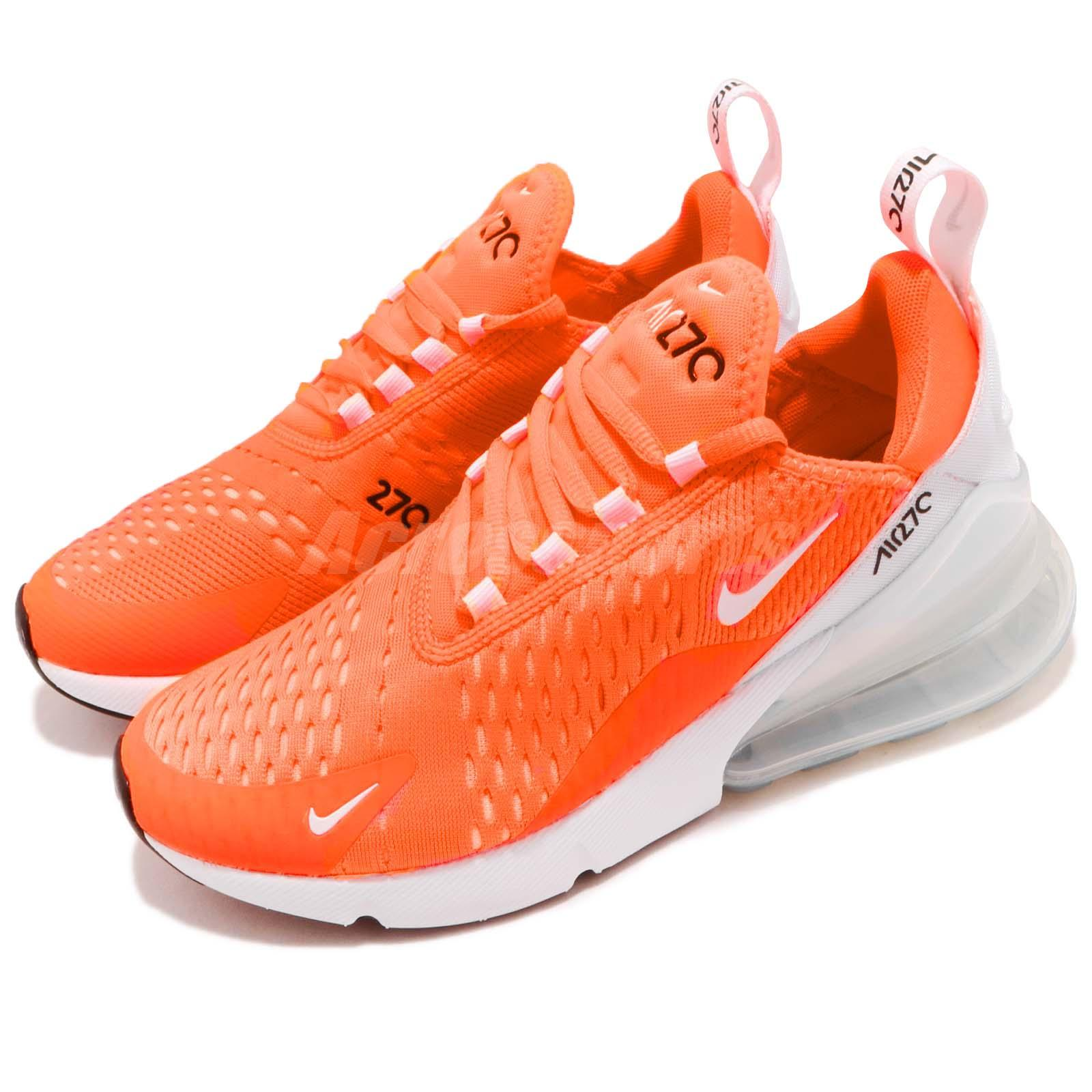 2934c39996d8e Details about Nike Wmns Air Max 270 Total Orange White Women Running Shoes  Sneakers AH6789-800