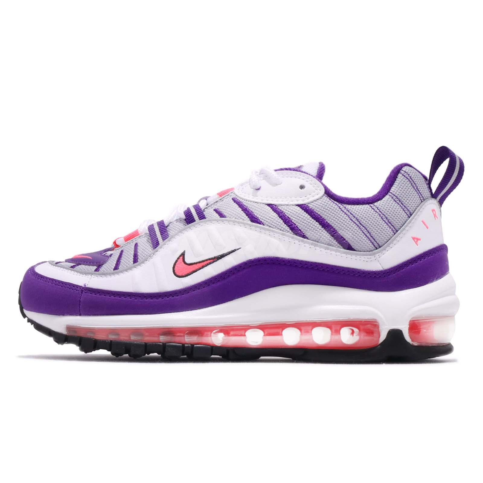 100% authentic 340f5 4baa5 Nike Wmns Air Max 98 Raptors White Purple Pink Women Running Shoes  AH6799-110