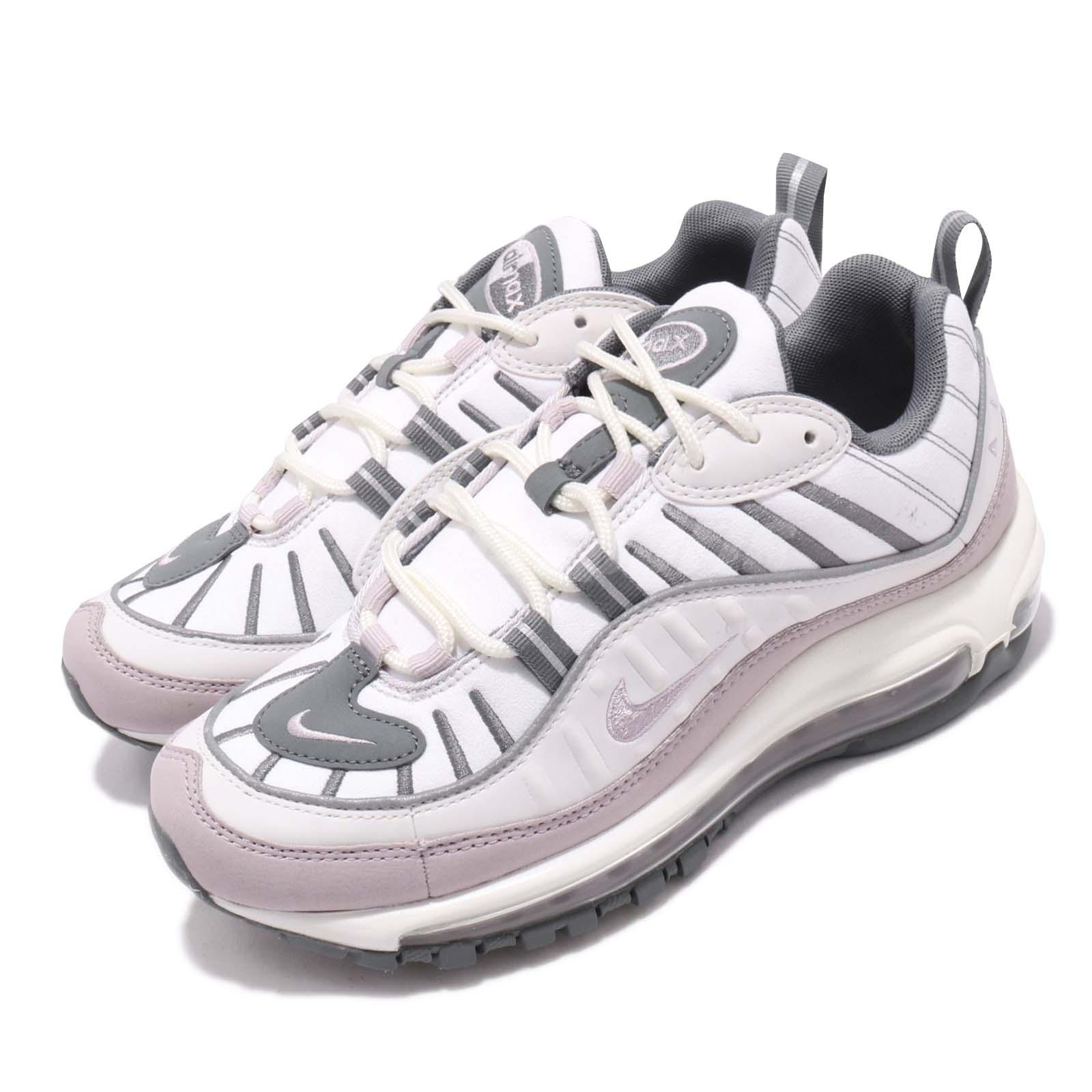 Details about Nike Wmns Air Max 98 White Violet Ash Grey Womens Running Shoes AH6799 111