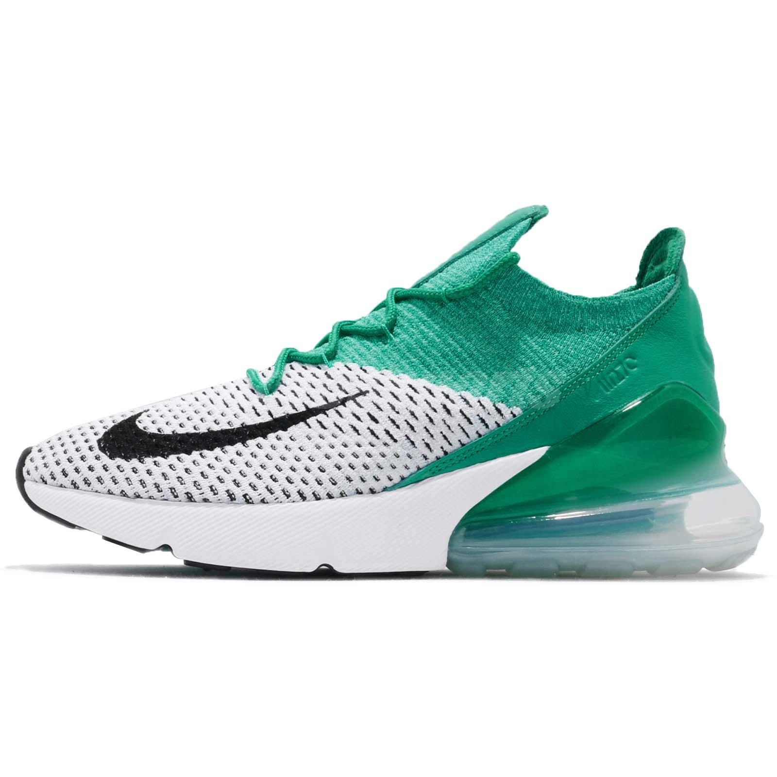 7c520ef9015 Nike Wmns Air Max 270 Flyknit Clear Emerald Green Women Running Shoes AH6803 -300