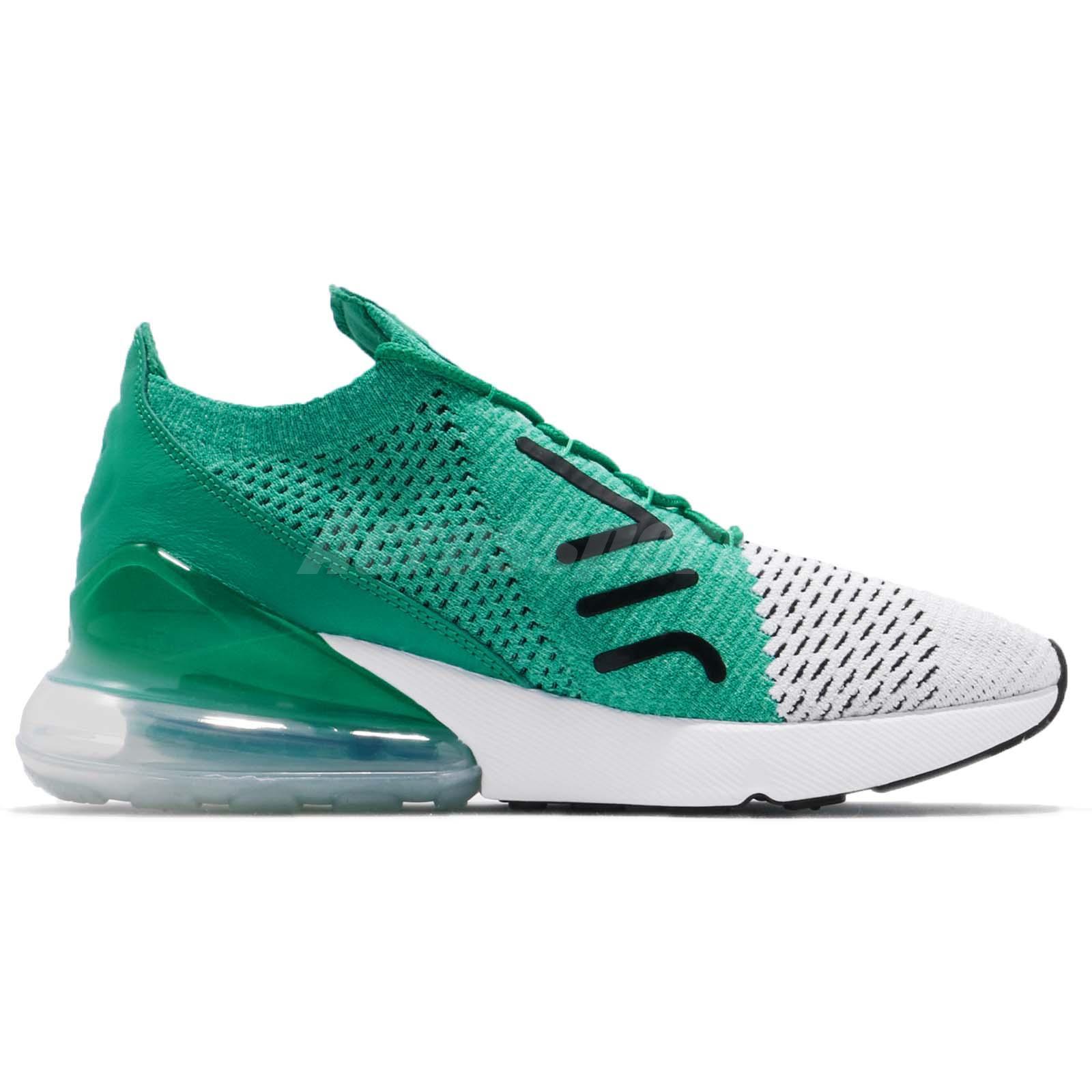 a4b11a6c8af Nike Wmns Air Max 270 Flyknit Clear Emerald Green Women Running ...