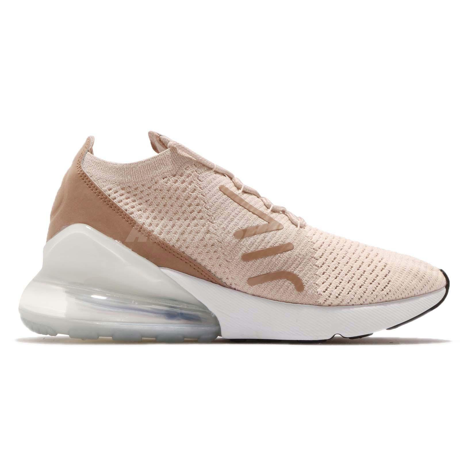 84c73ae01b Nike Wmns Air Max 270 Flyknit Guava Ice Particle Beige Women Shoes ...