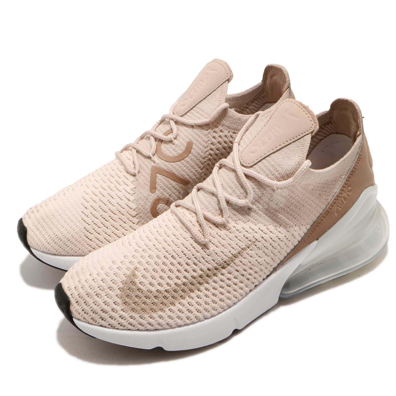 Nike Wmns Air Max 270 Flyknit Guava Ice Particle Beige Women Shoes ...