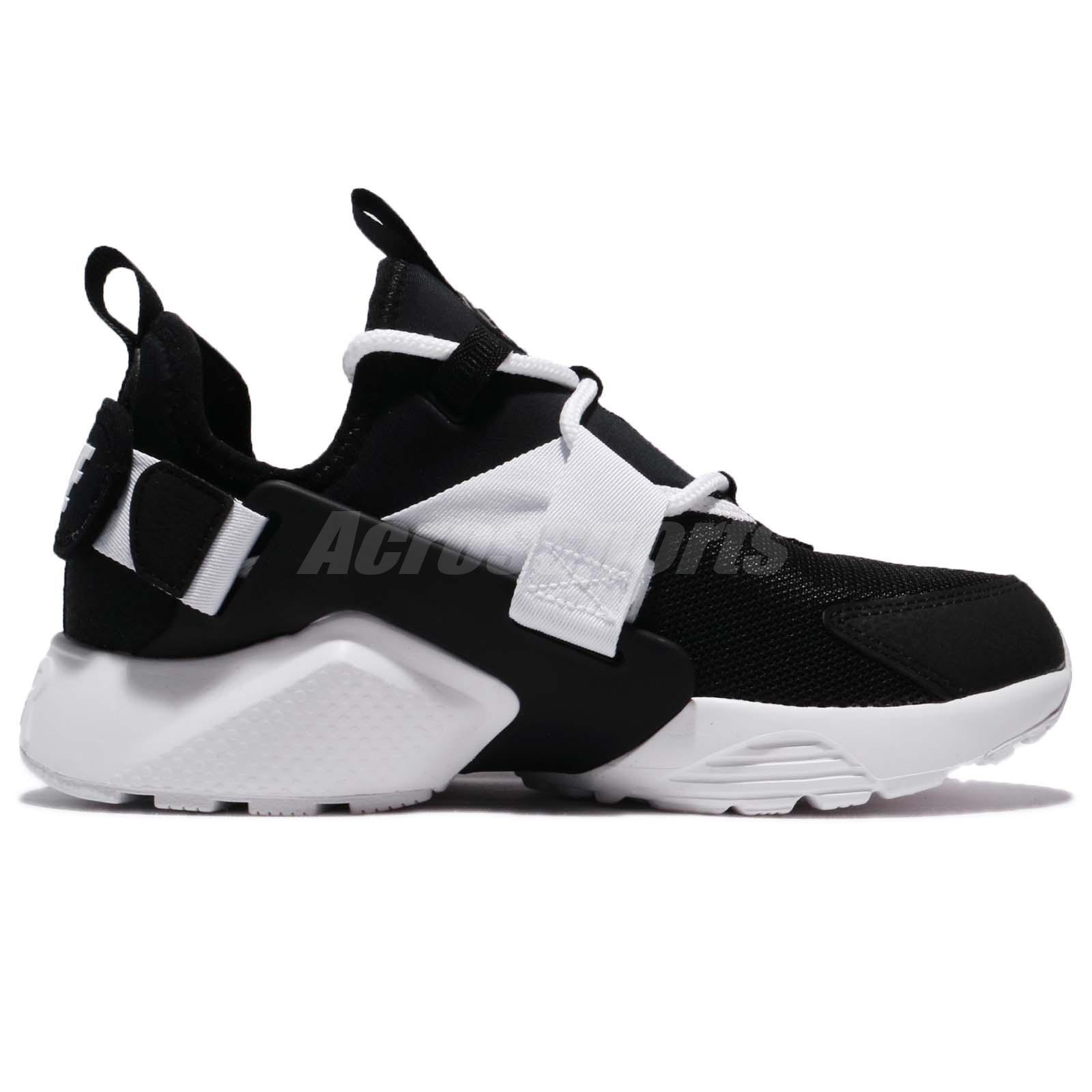 c1cb093afad51 Nike Wmns Air Huarache City Low Black White Women Running Shoes ...