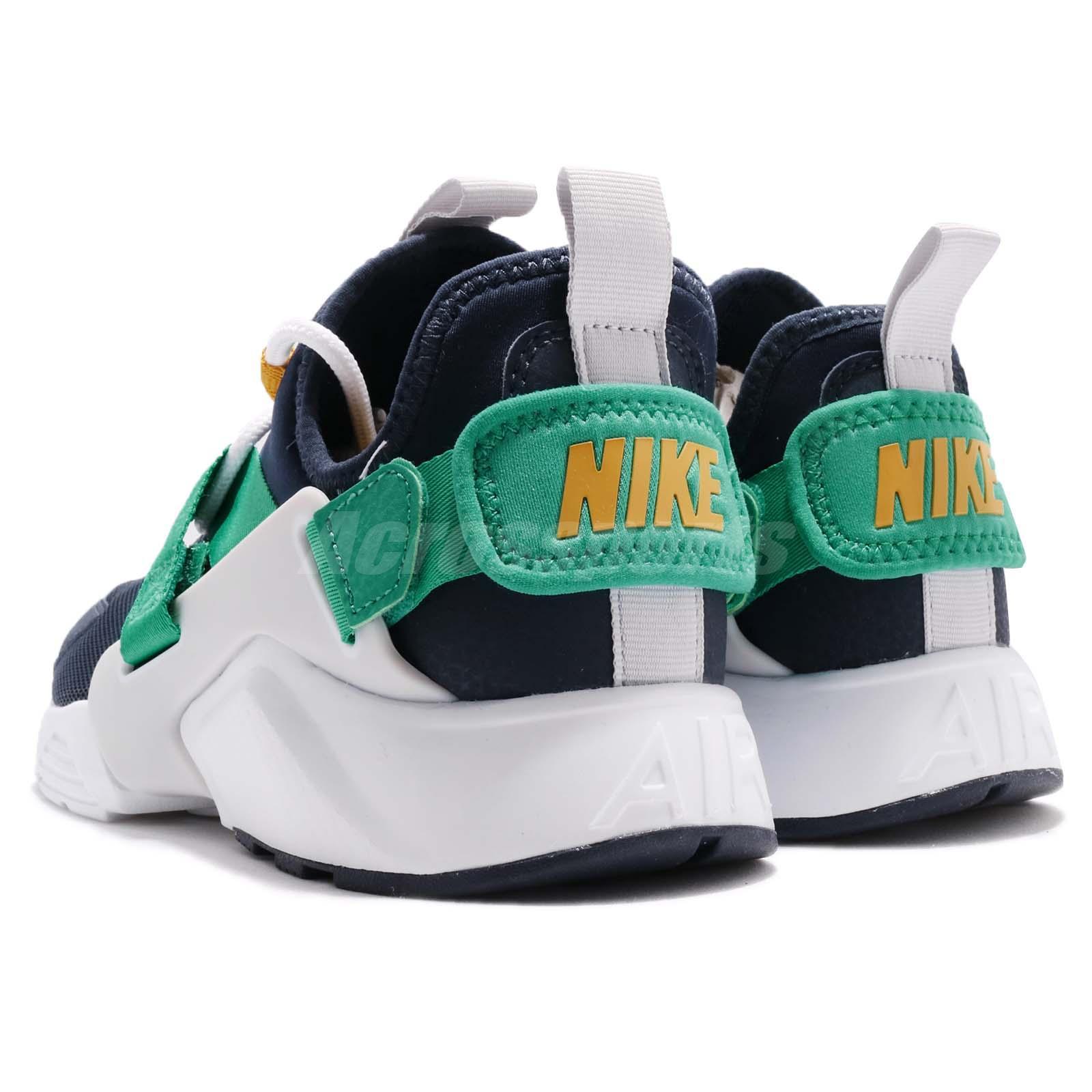 b5491dace0607 Wmns Nike Air Huarache City Low Navy Green Women Casual Shoes ...