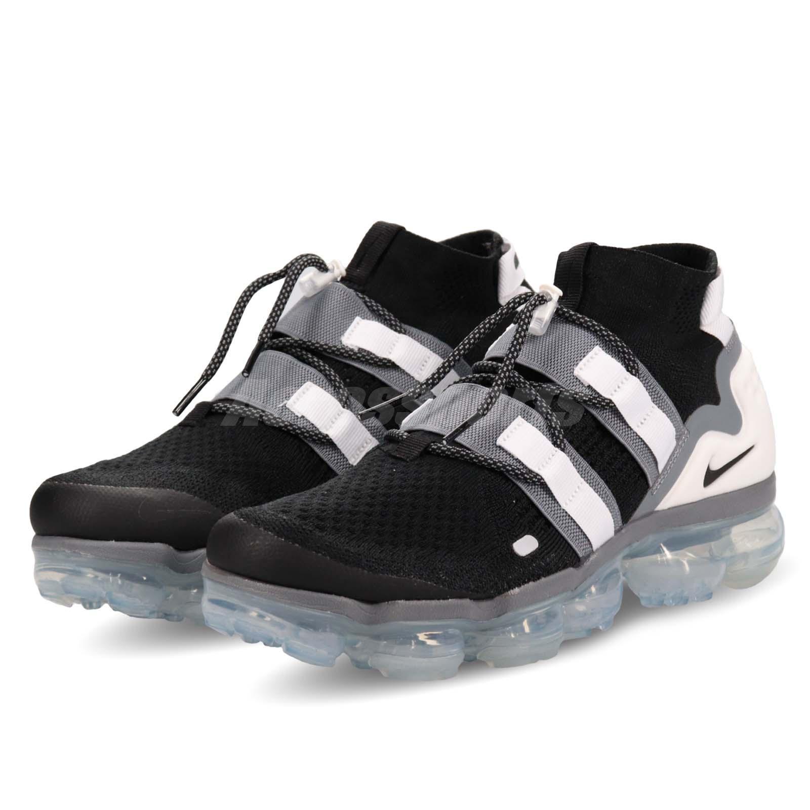 wholesale dealer 8def7 f30a9 Details about Nike Air Vapormax FK Utility Flyknit Black Grey White Men  Shoes AH6834-003