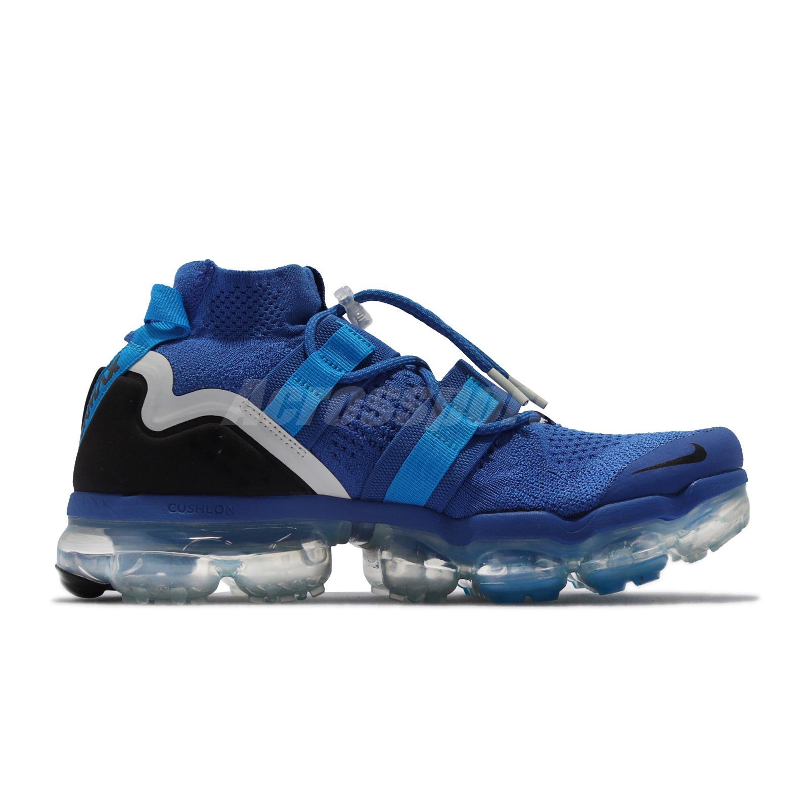 e573824dd9 Nike Air Vapormax FK Utility Flyknit Game Royal Black Blue Men Shoes ...