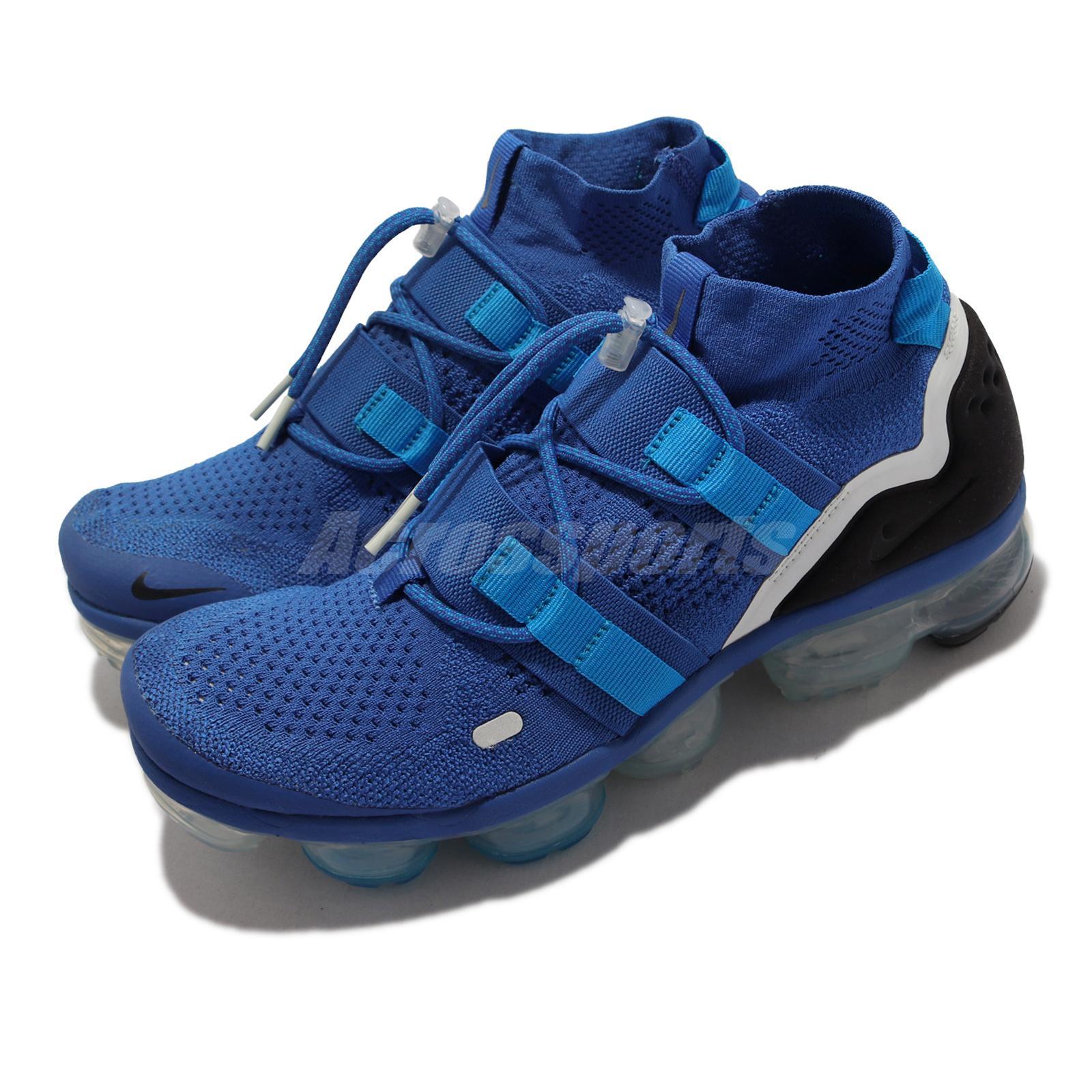7b656c40f52d Details about Nike Air Vapormax FK Utility Flyknit Game Royal Black Blue  Men Shoes AH6834-400