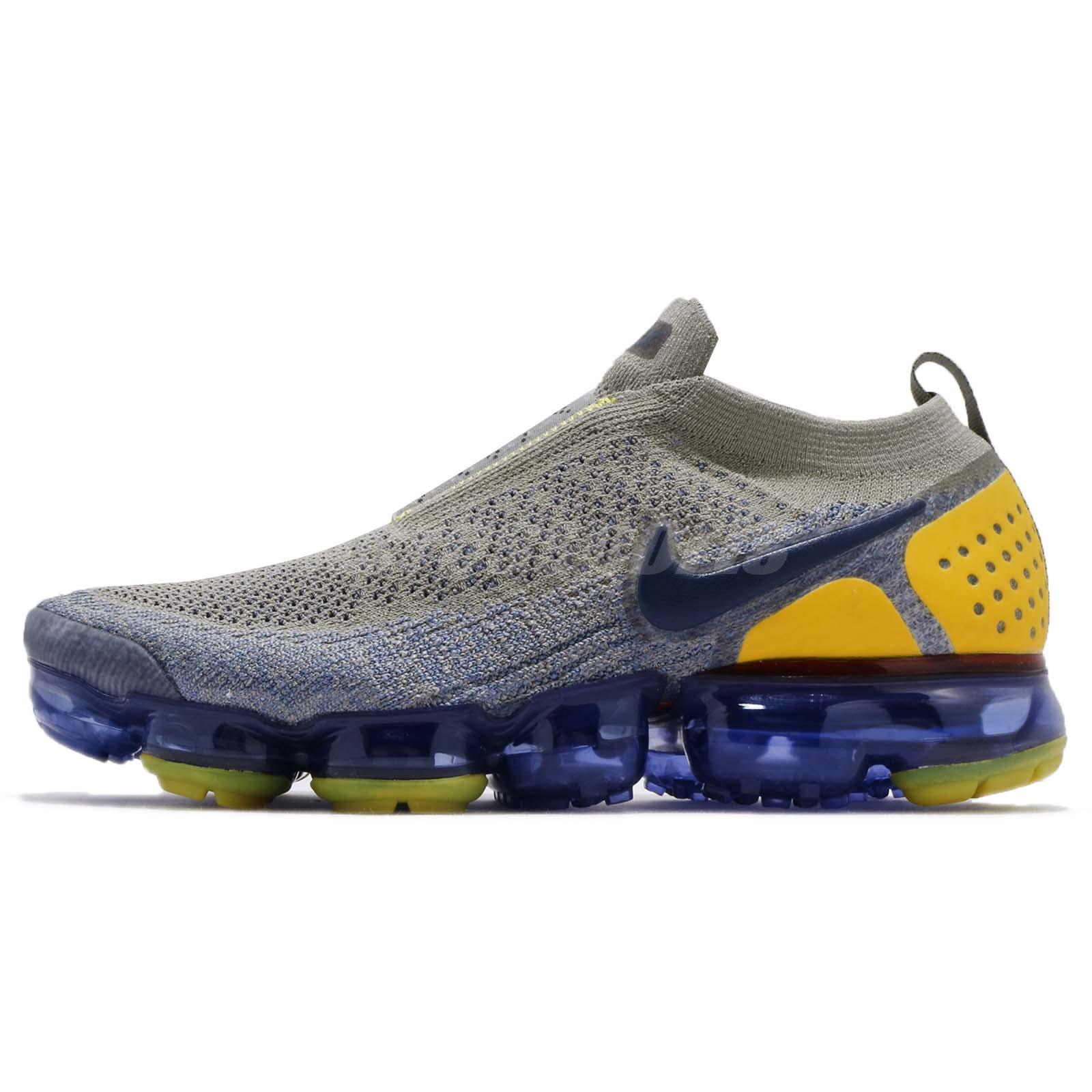 best website faf41 10afb Details about Nike Air Vapormax FK Moc 2 II Flyknit Dark Stucco Navy Men  Running AH7006-004