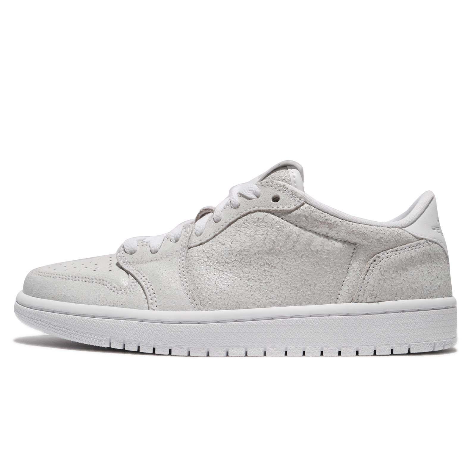 8f57eb274c1630 Nike Wmns Air Jordan 1 Retro Low NS No Swoosh White Grey Women Shoes AH7232- 100