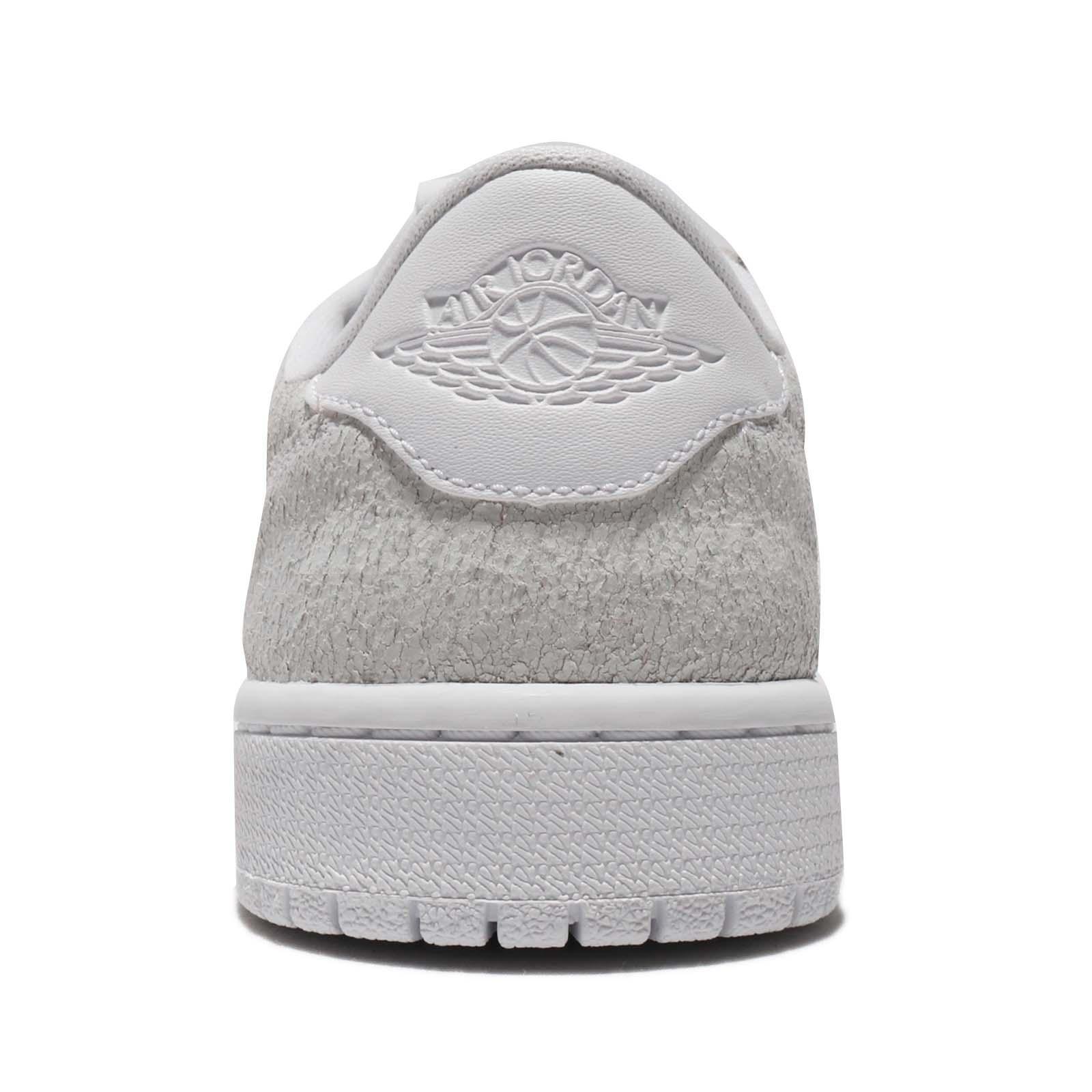 520c210669a840 Nike Wmns Air Jordan 1 Retro Low NS No Swoosh White Grey Women Shoes ...