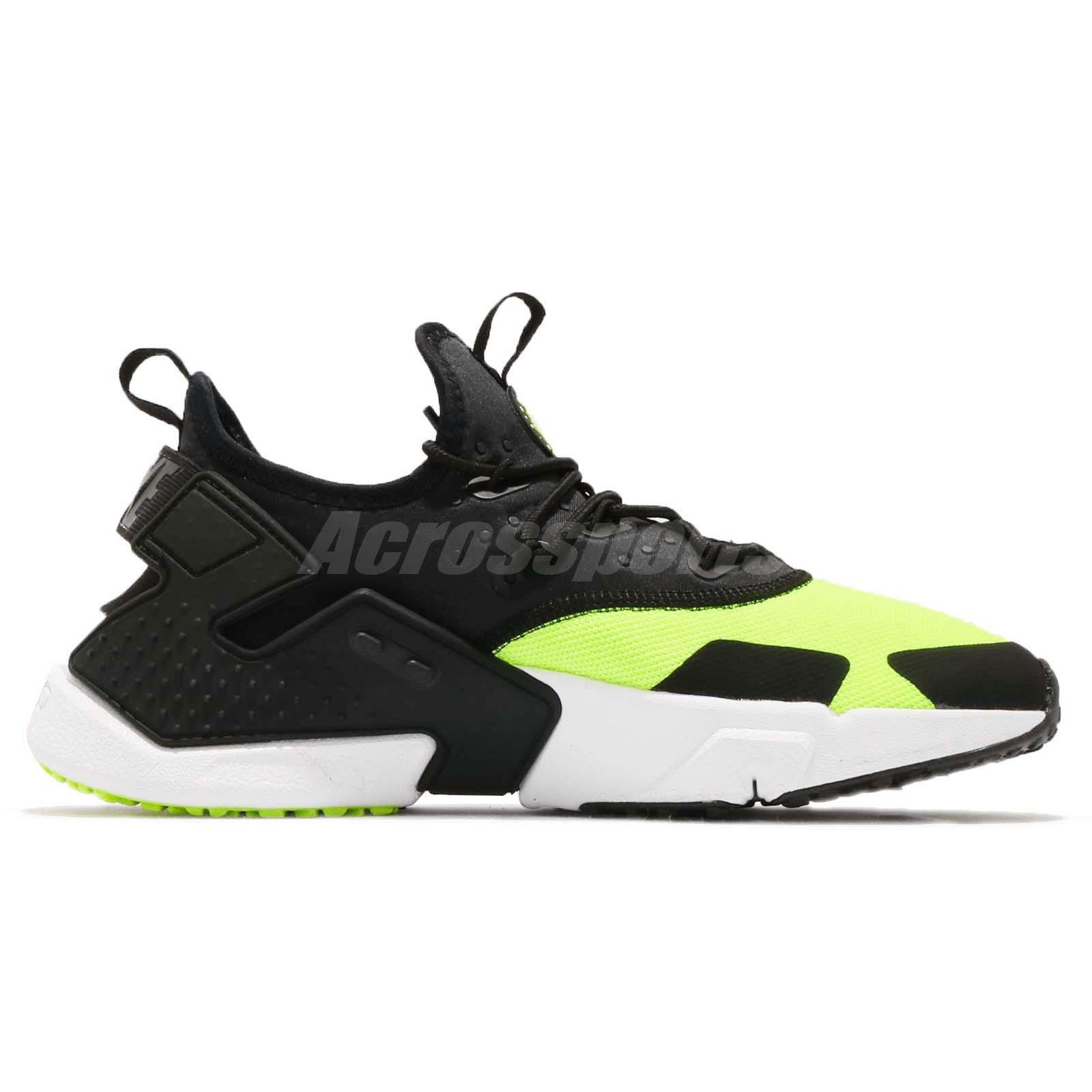 4287a2f0b96a7 Nike Air Huarache Drift Volt Black White Men Running Shoes Sneakers ...