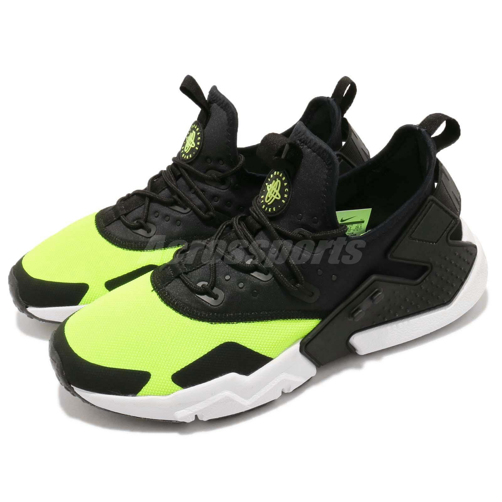 4ba5664cfb41 Details about Nike Air Huarache Drift Volt Black White Men Running Shoes  Sneakers AH7334-700