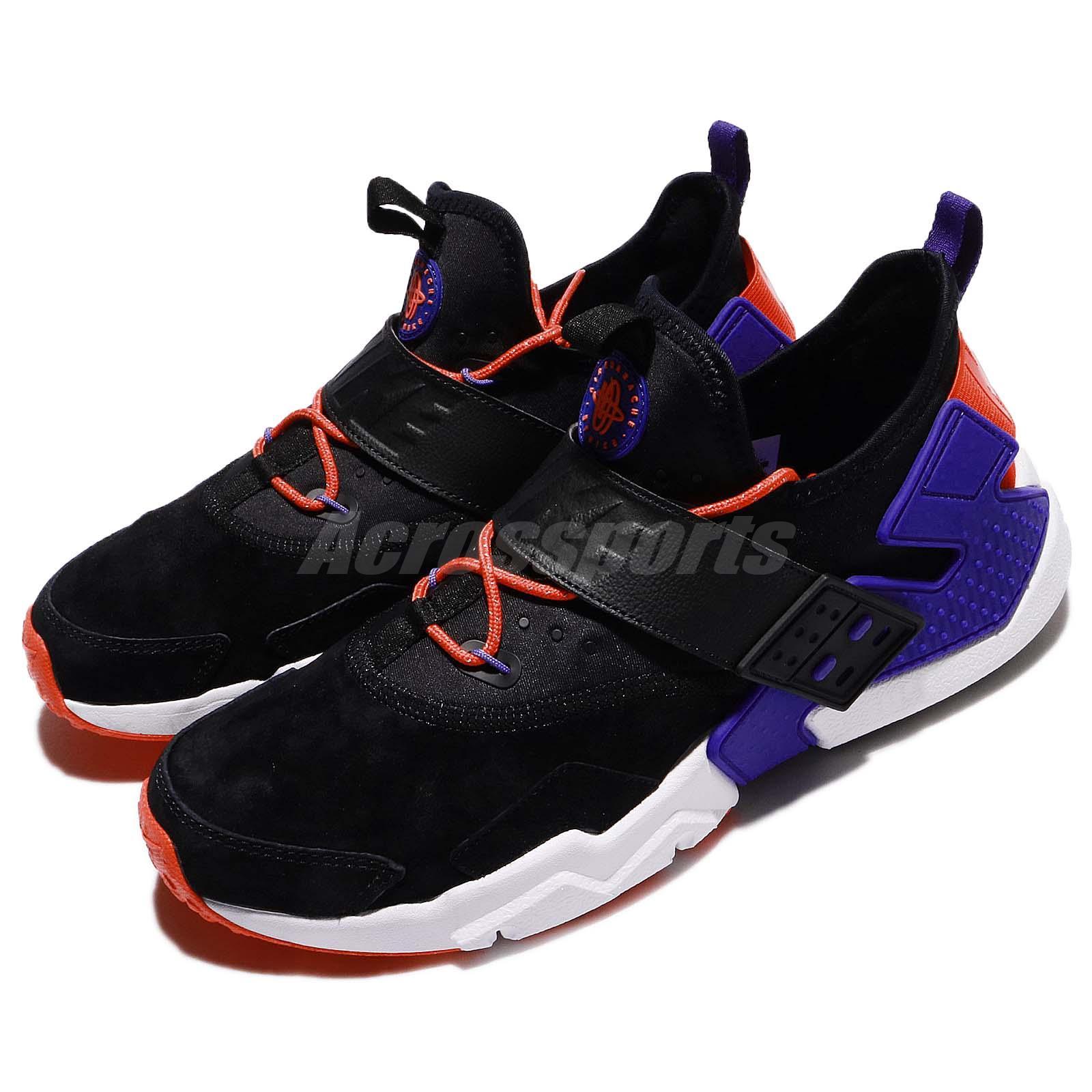 f3a036c5b4f Details about Nike Air Huarache Drift PRM Black Rush Violet Orange Men  Running Shoe AH7335-002