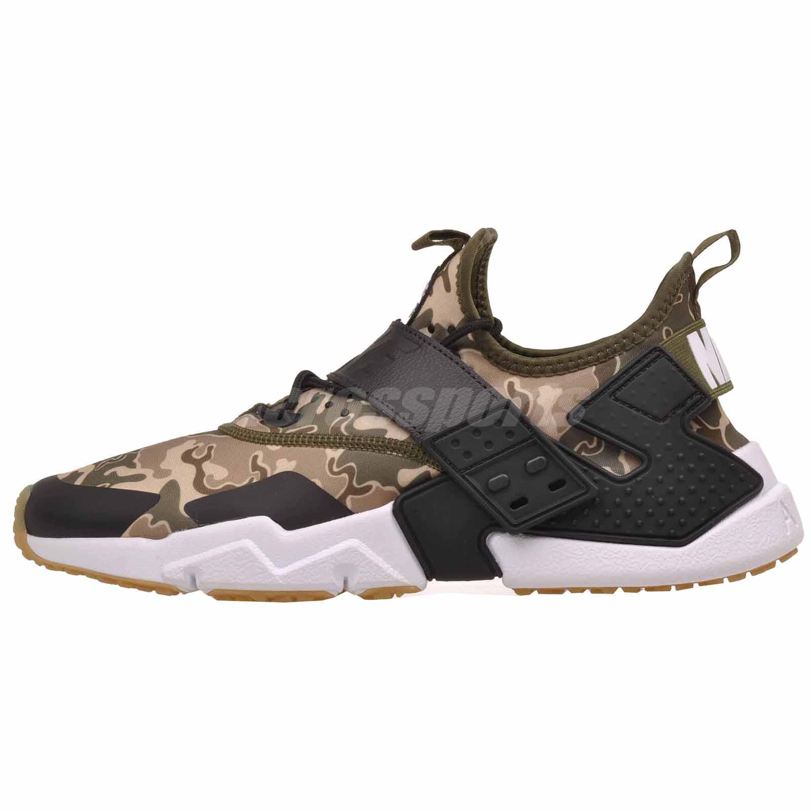 d9ca1b04c7c43 Nike Air Huarache Drift PRM Mens Running Shoes Olive Canvas AH7335-301