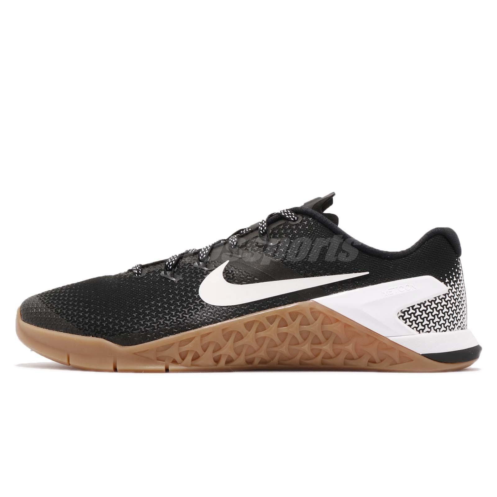 new arrival 83486 90c70 Nike Metcon 4 IV Black White Gum Men Cross Training Shoes Sneakers AH7453 -006