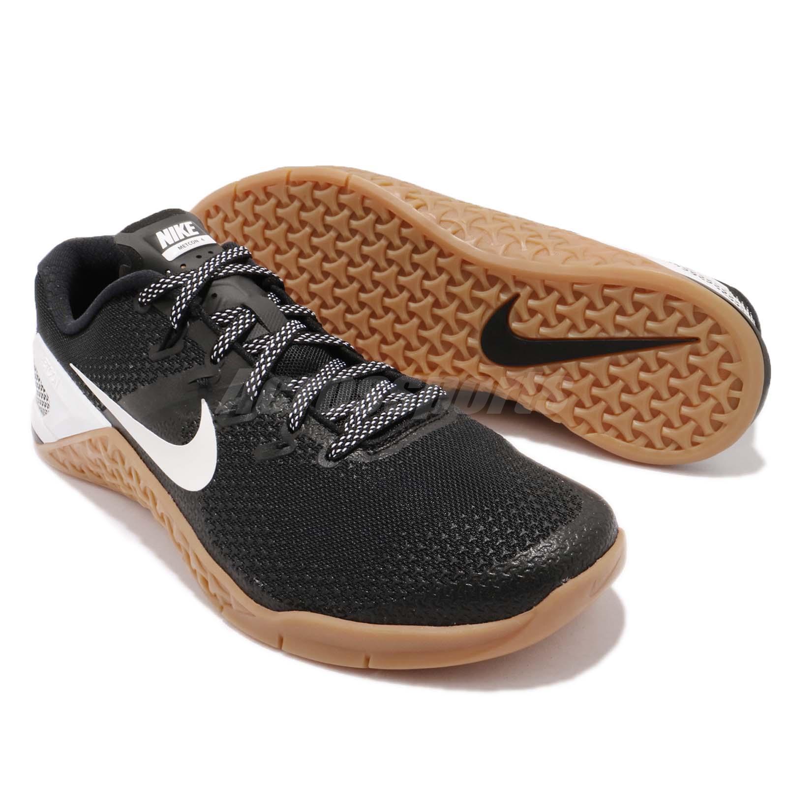 newest 2bacc f27d1 Nike Metcon 4 IV Black White Gum Men Cross Training Shoes Sneakers ...