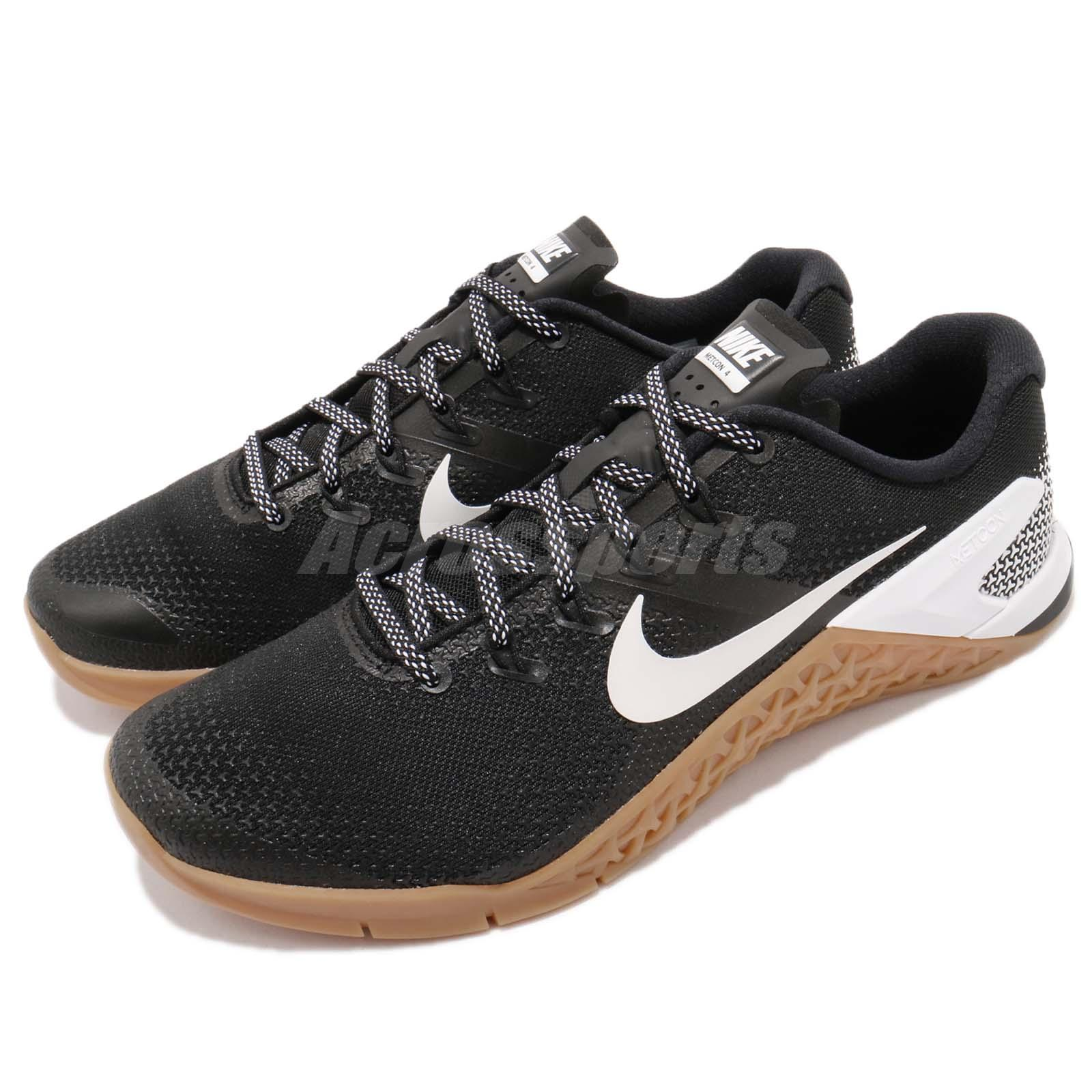 ec6b0be0d1b269 Details about Nike Metcon 4 IV Black White Gum Men Cross Training Shoes  Sneakers AH7453-006