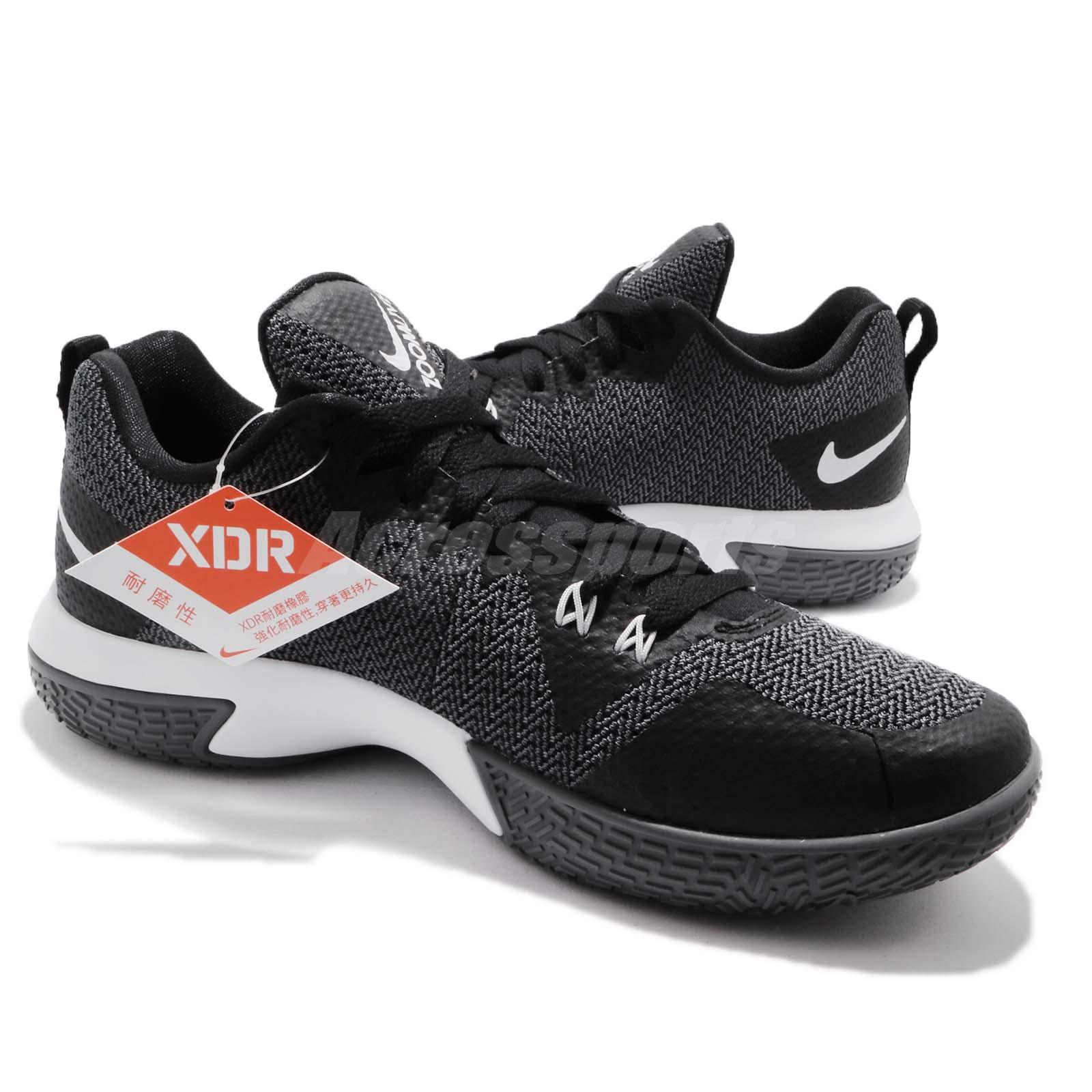 best website 68083 cf998 Nike Zoom Live II EP 2 Black Pure Platinum Grey Men Basketball Shoes ...