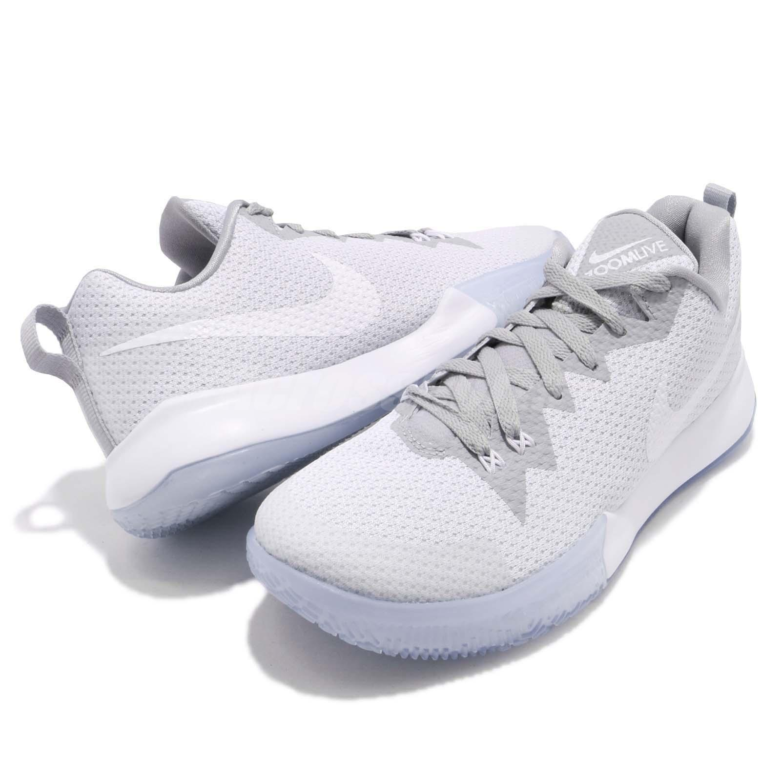 save off 64d46 175a1 Nike Zoom Live II EP 2 White Wolf Grey Men Basketball Shoes Sneakers ...
