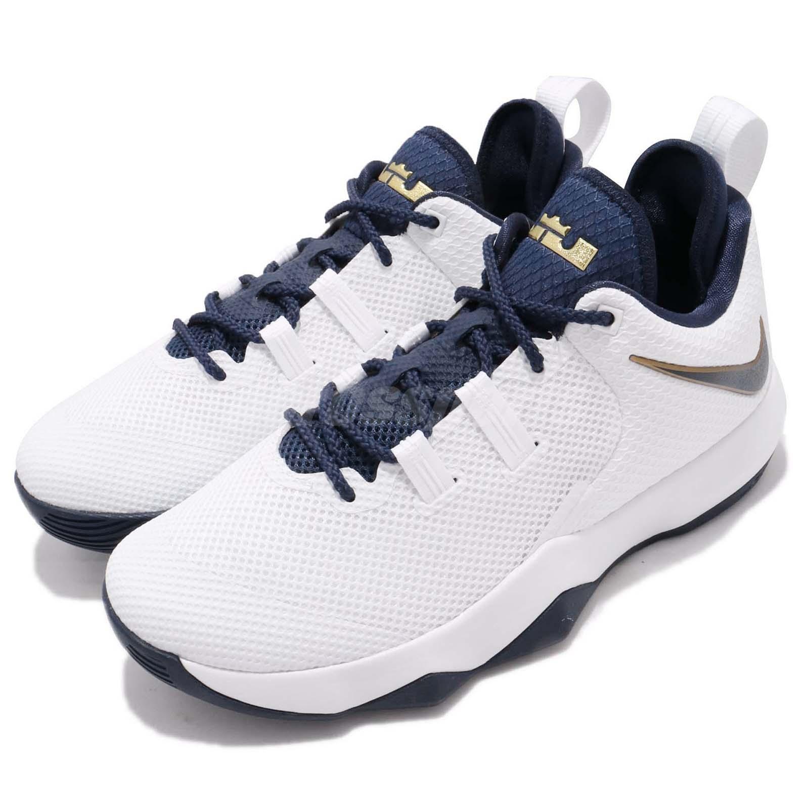 155519149c9 Details about Nike Ambassador X 10 Lebron James White Gold Navy Men  Basketball Shoe AH7580-100