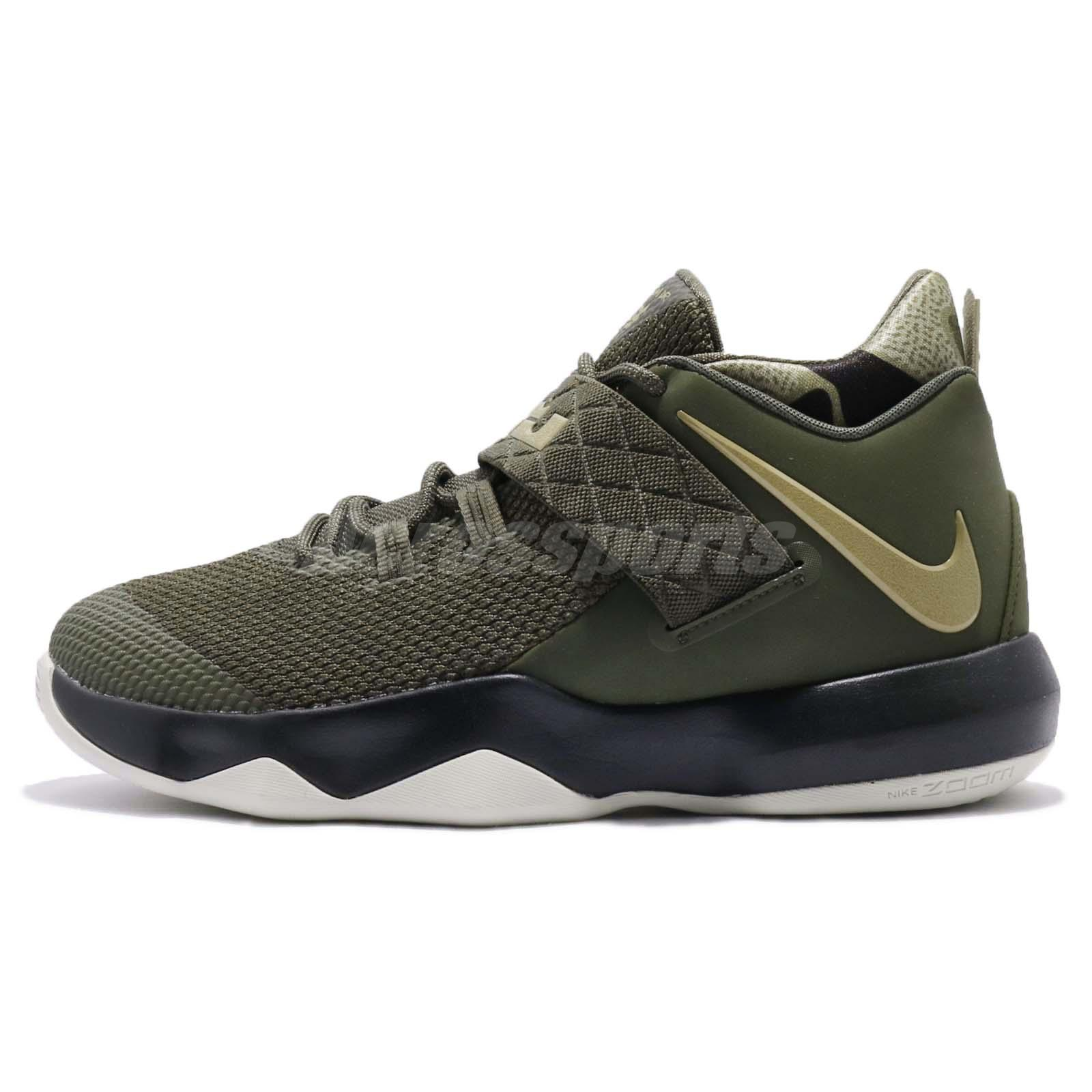 Nike Ambassador X 10 LeBron James Cargo Olive Men Basketball Shoes AH7580300