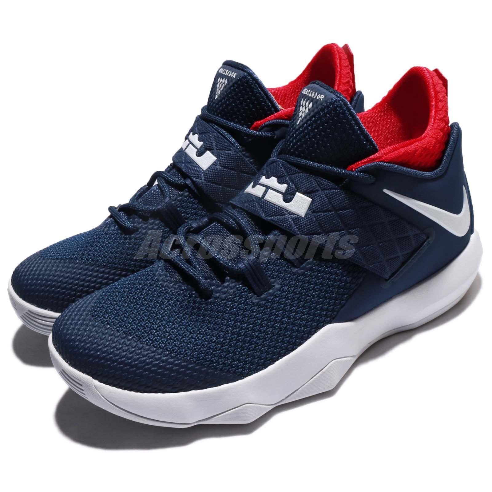 Nike Ambassador X 10 Lebron James USA Navy Red Men ...