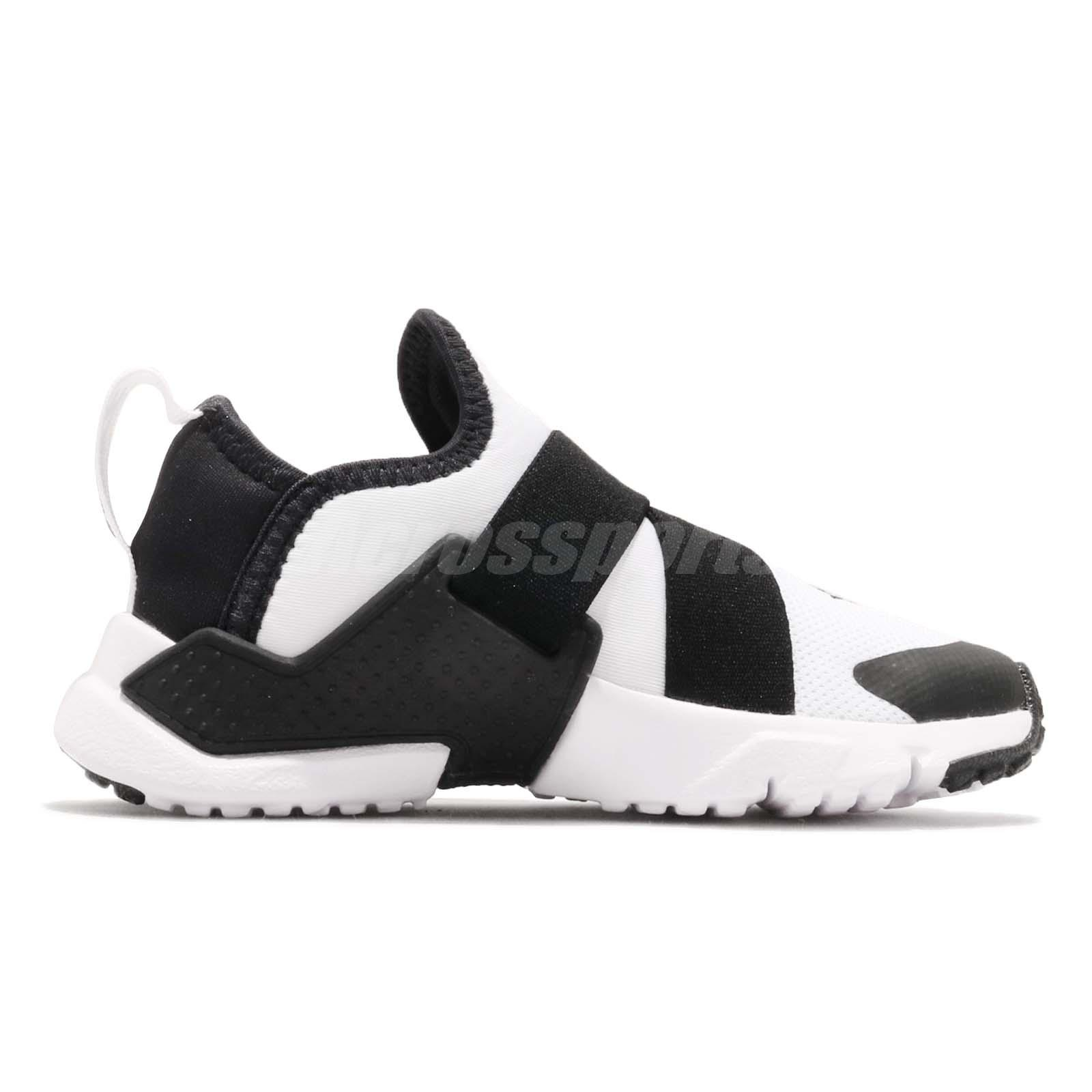 6f77ce83aa3d5 Nike Huarache Extreme PS White Black Preschool Boy Girl Slip On ...