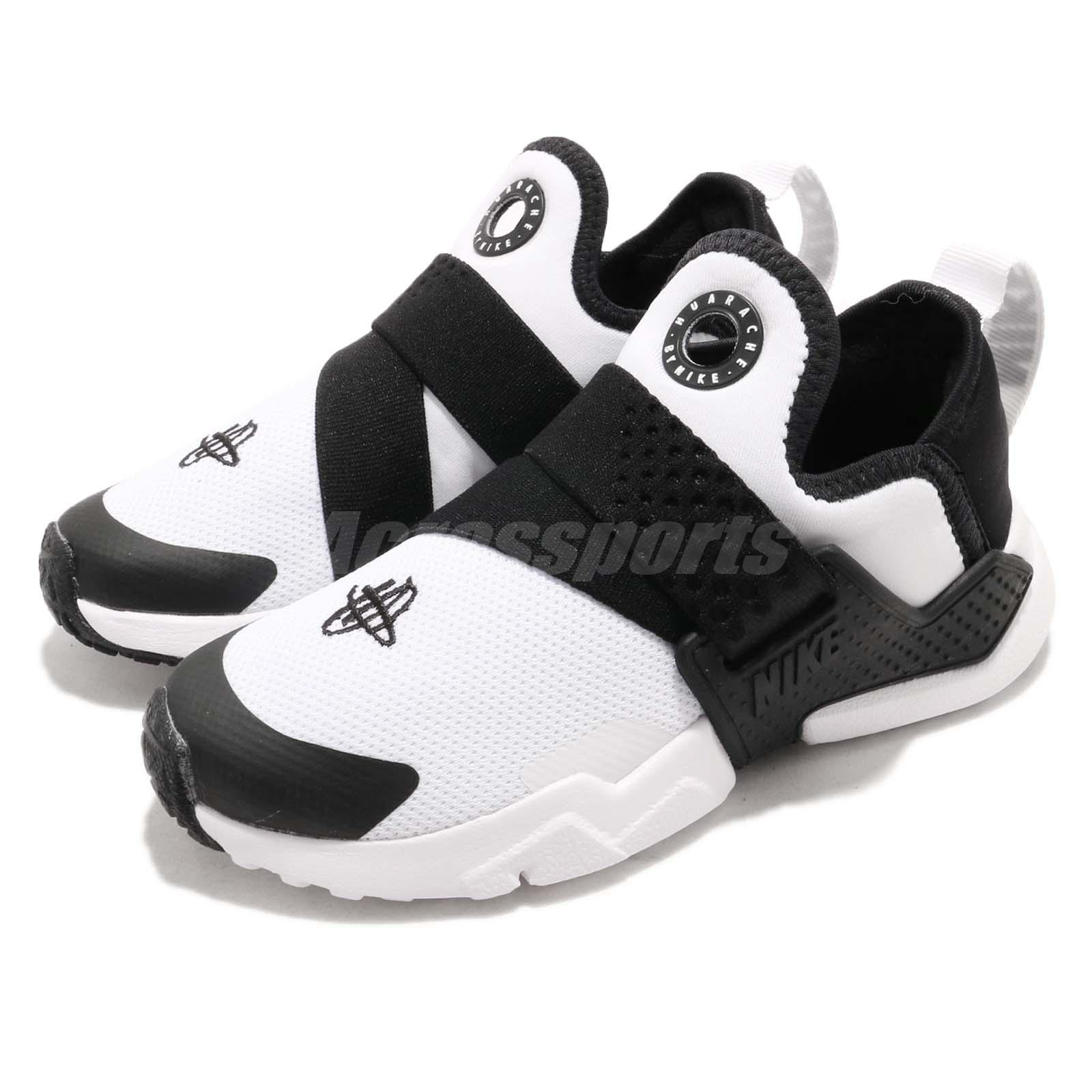 4c263583eef7e Details about Nike Huarache Extreme PS White Black Preschool Boy Girl Slip  On Shoes AH7826-101