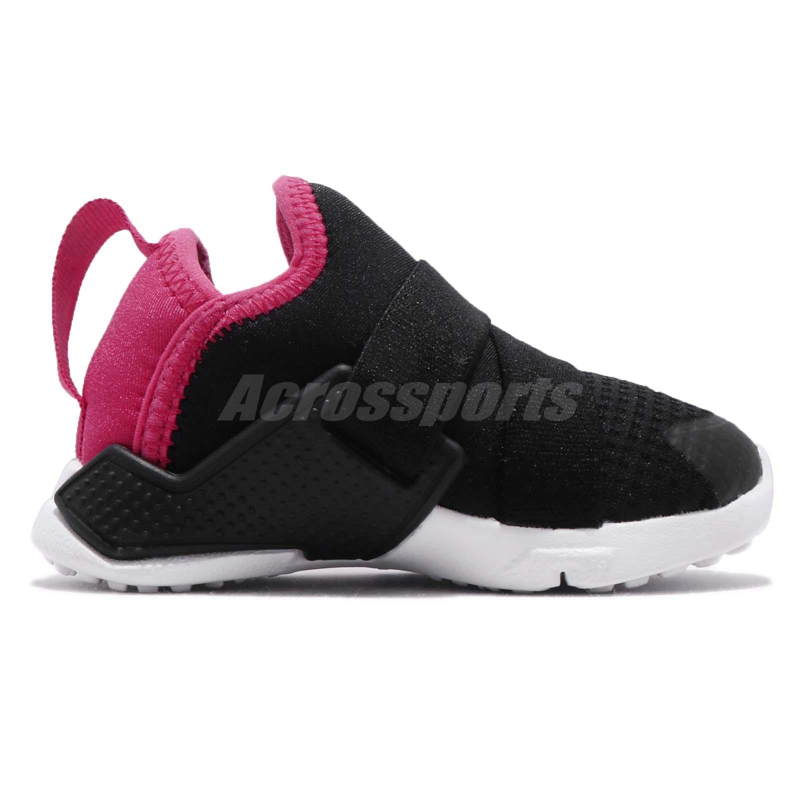 2a33a129337e Nike Huarache Extreme TD Black Rush Pink White Toddler Infant Shoes ...