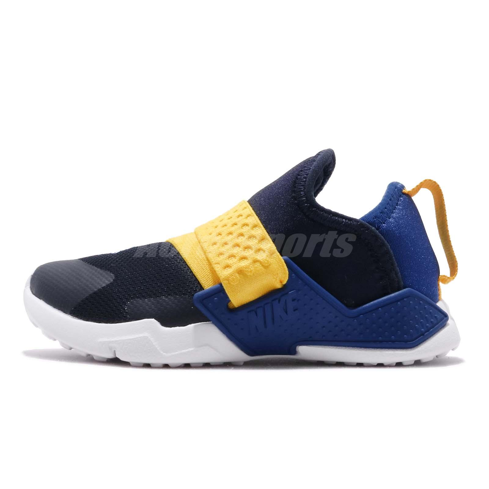 the best attitude db616 56efa Details about Nike Huarache Extreme TD Navy Blue Yellow Toddler Infant Slip  On Shoe AH7827-404