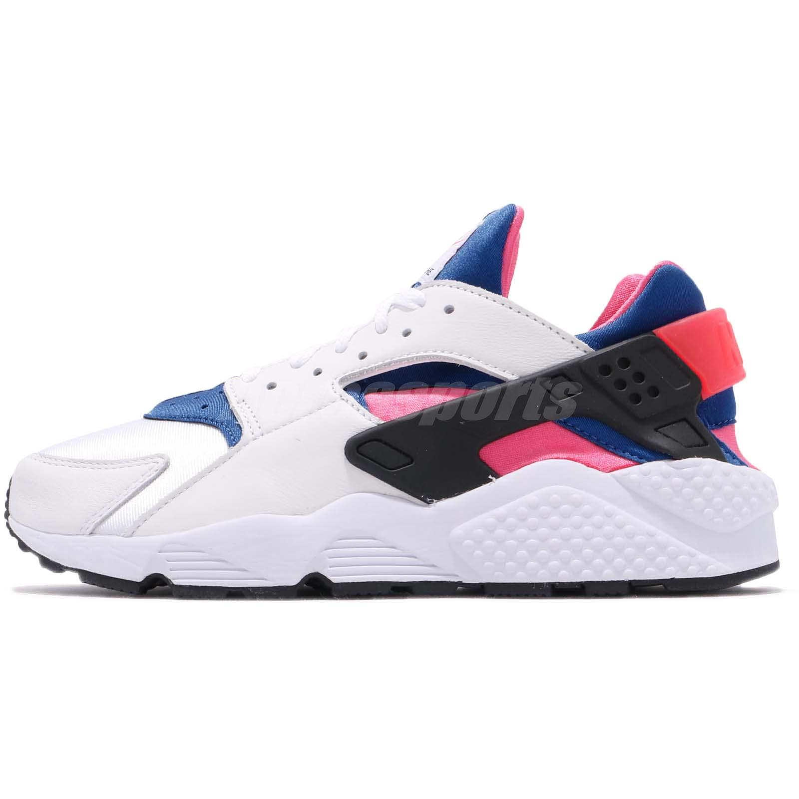 eea5e7000d323 Nike Air Huarache Run 91 QS OG White Blue Pink Men Shoes Sneakers AH8049-100