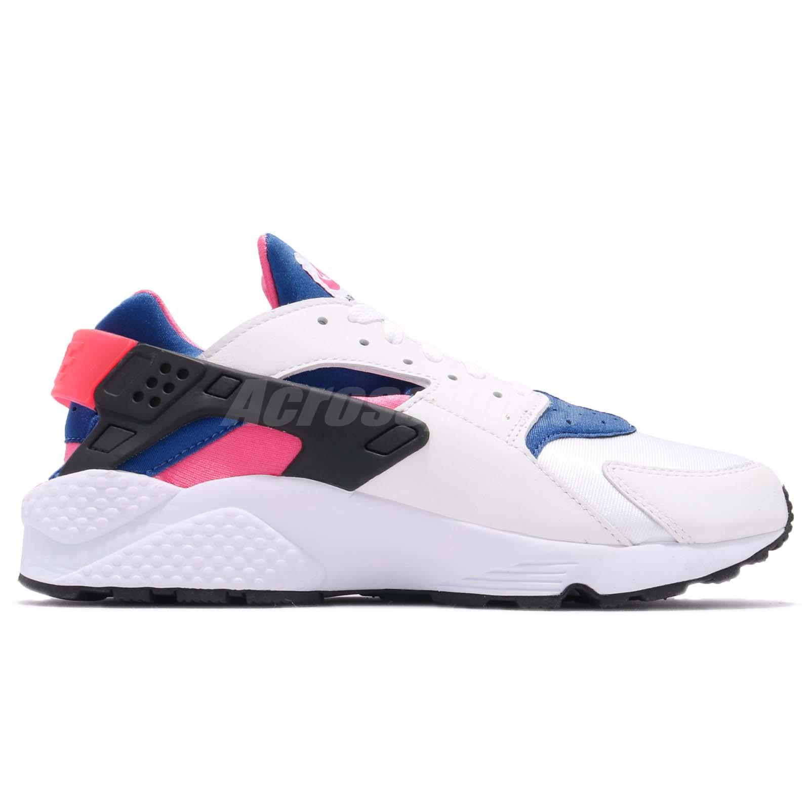 049b43befe1b4 Nike Air Huarache Run 91 QS OG White Blue Pink Men Shoes Sneakers ...