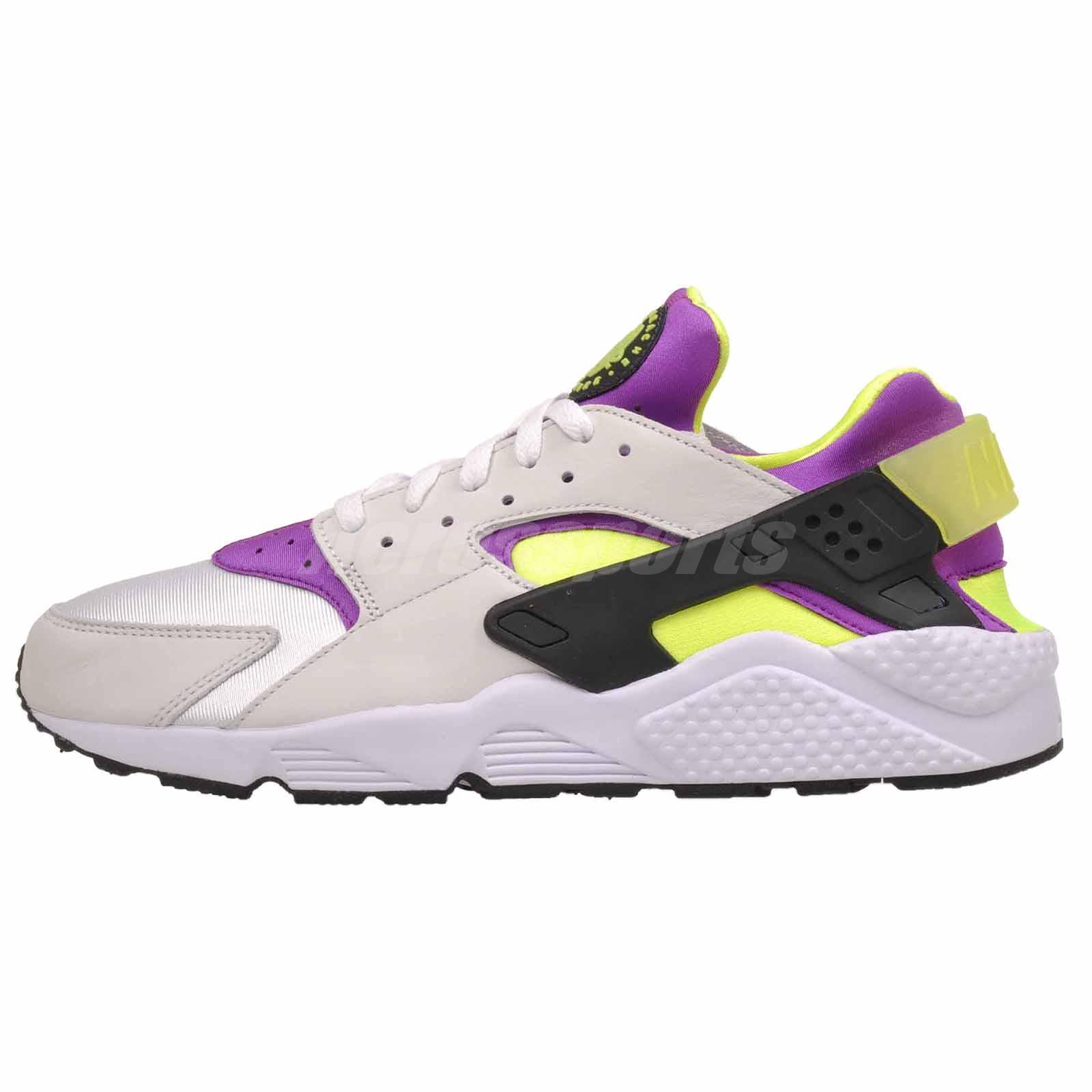 website for discount size 7 buy best Nike Air Huarache Run 91 QS Running Mens Womens Shoes White Yellow ...