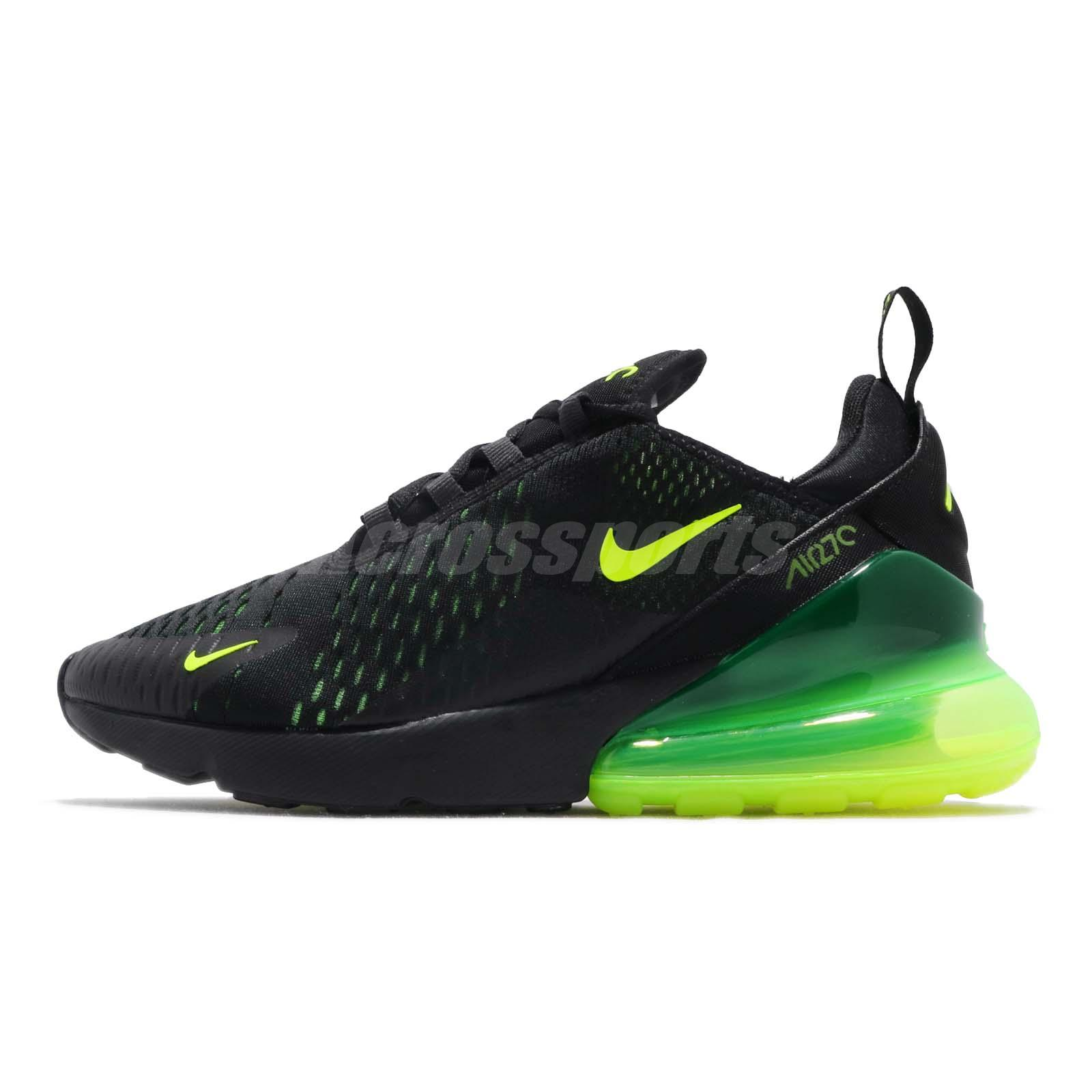Details about Nike Air Max 270 Black Volt Grey Men Running Casual Shoes Sneakers AH8050 017