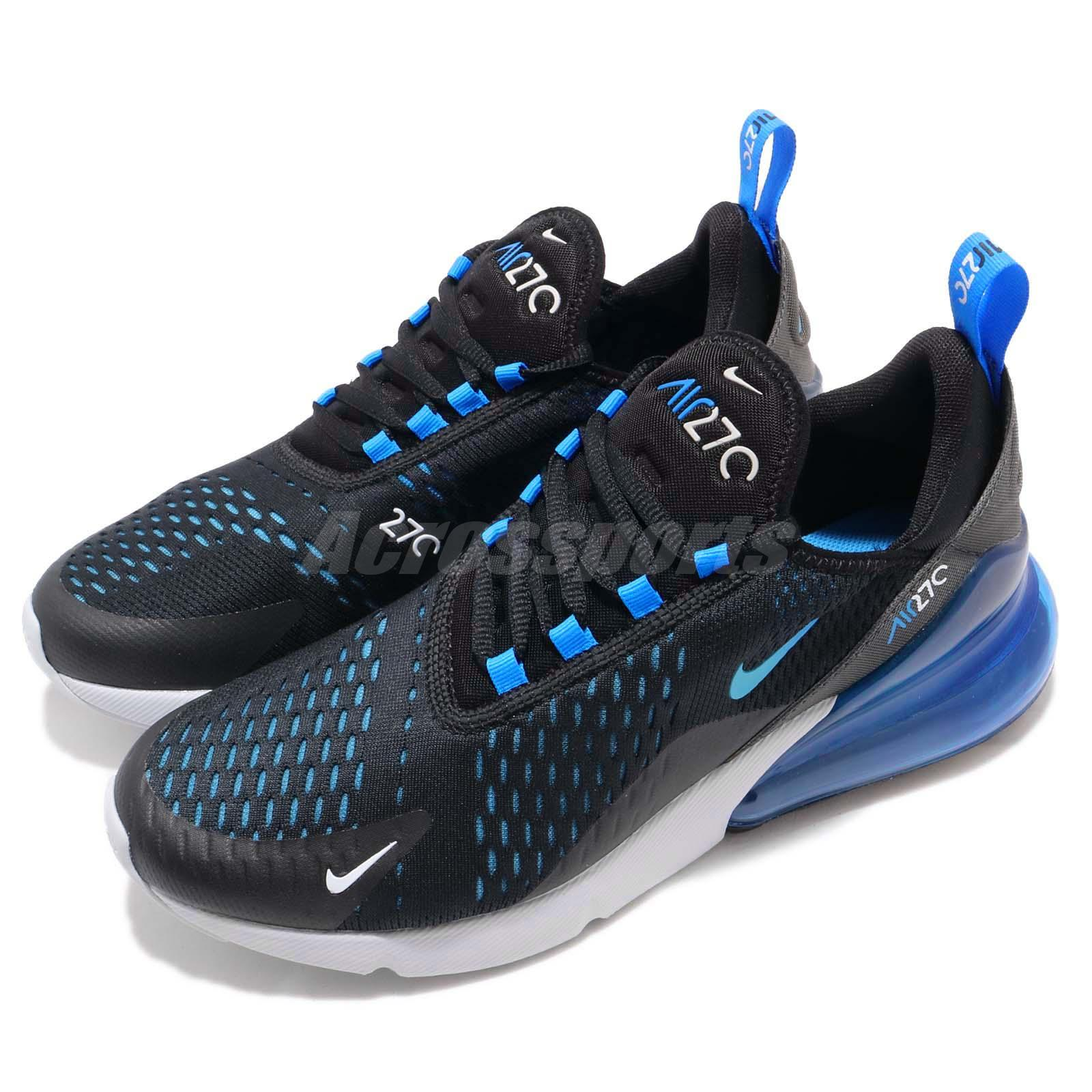 wholesale dealer 8f694 ae3e2 Details about Nike Air Max 270 Liquid Metal Black Blue Fury Men Running  Shoes AH8050-019
