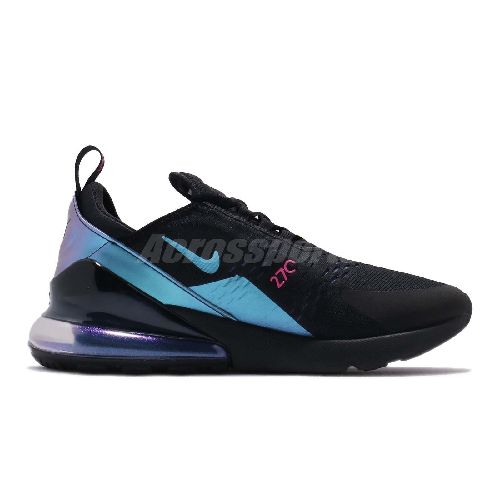 Details about Nike Air Max 270 Throwback Future Black Laser Fuchsia Purple Men Shoe AH8050 020