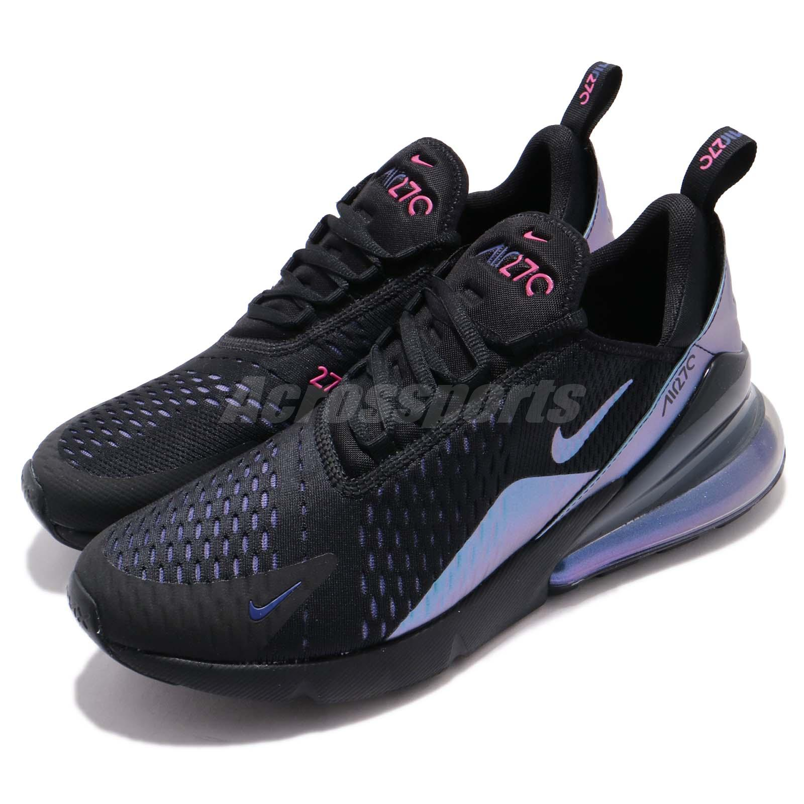 new product cf7e1 dac05 Details about Nike Air Max 270 Throwback Future Black Laser Fuchsia Purple  Men Shoe AH8050-020
