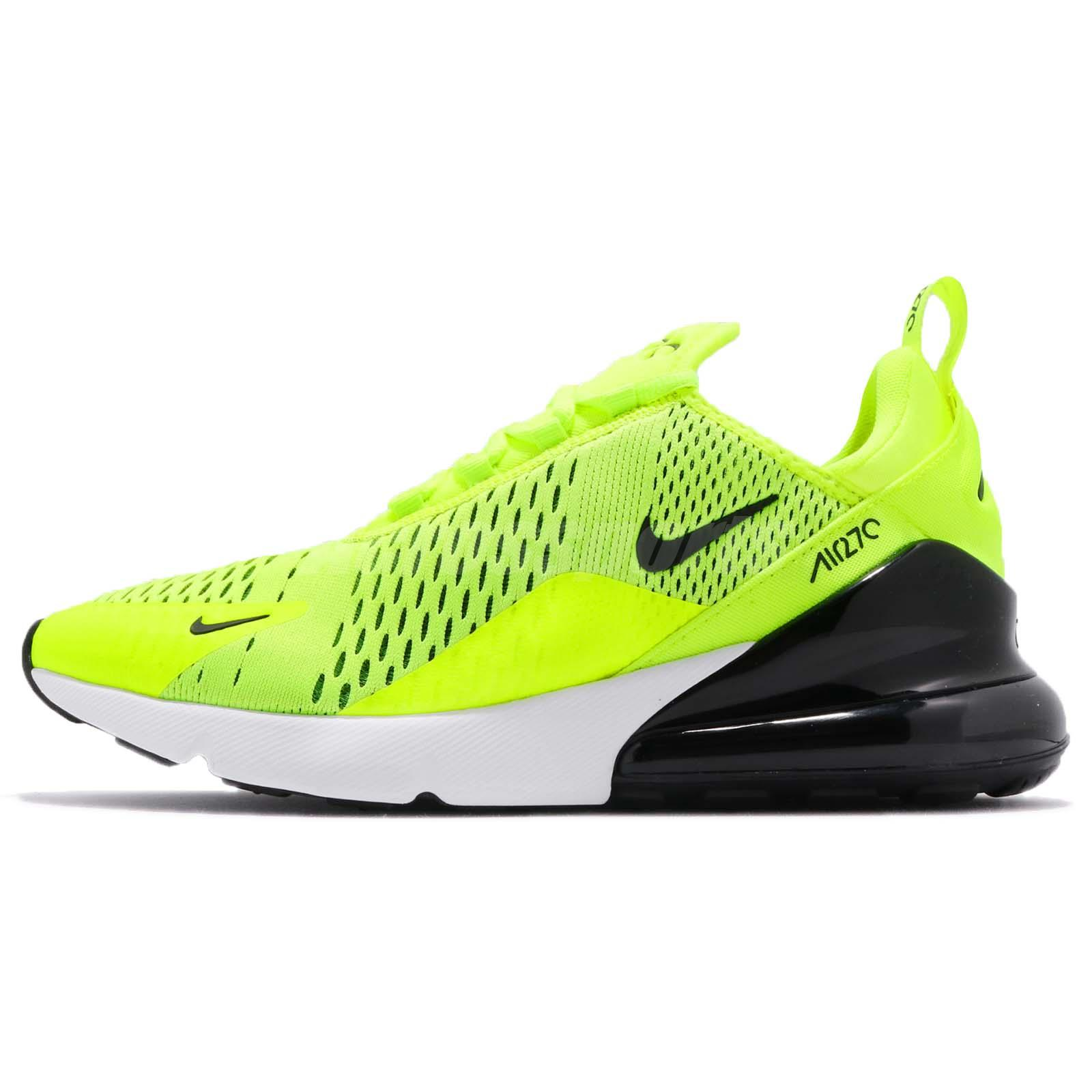 more photos 99169 aaf31 Nike Air Max 270 Volt Black White Men Running Casual Shoes Sneakers  AH8050-701